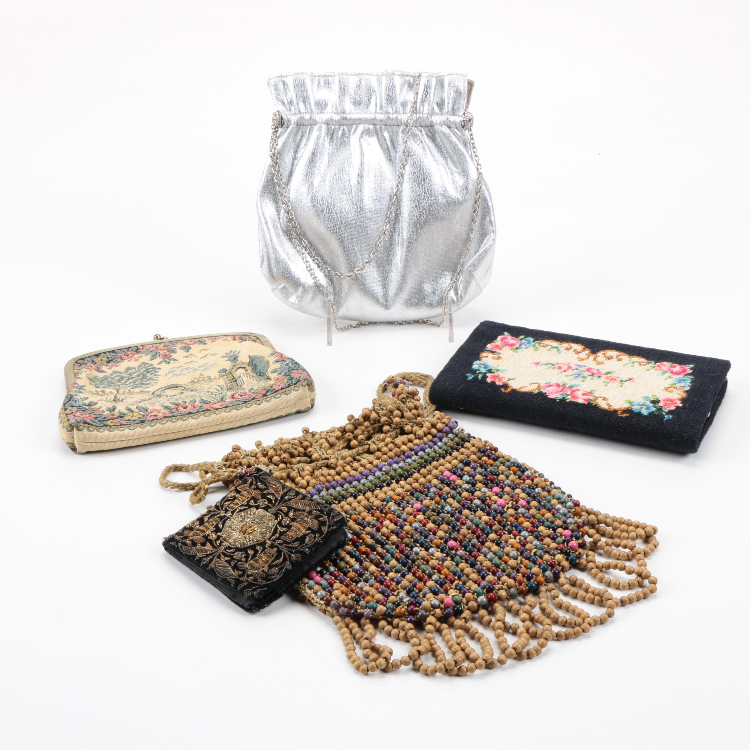 Evening Bags Including Embroidered and Tapestry