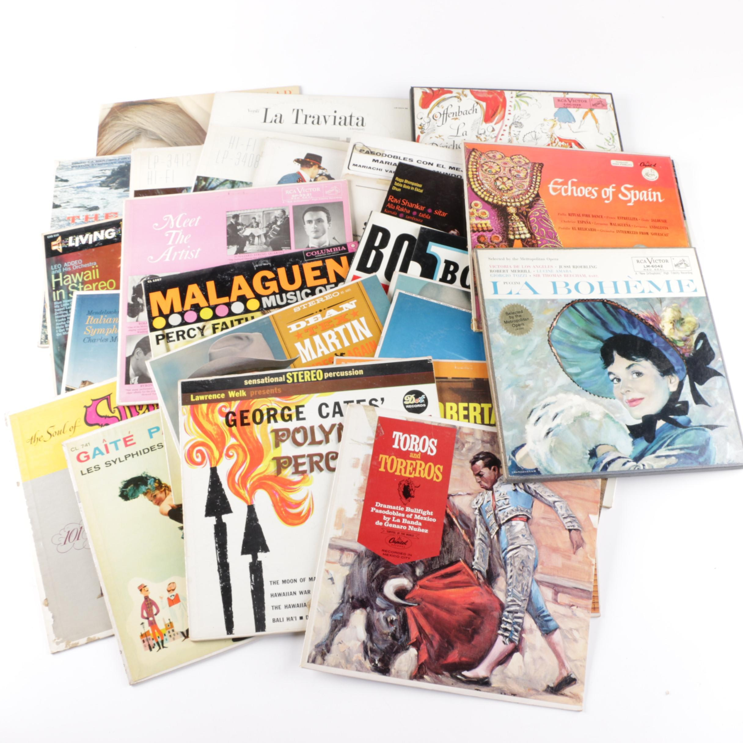 International and Hawaiian Theme Easy Listening LPs