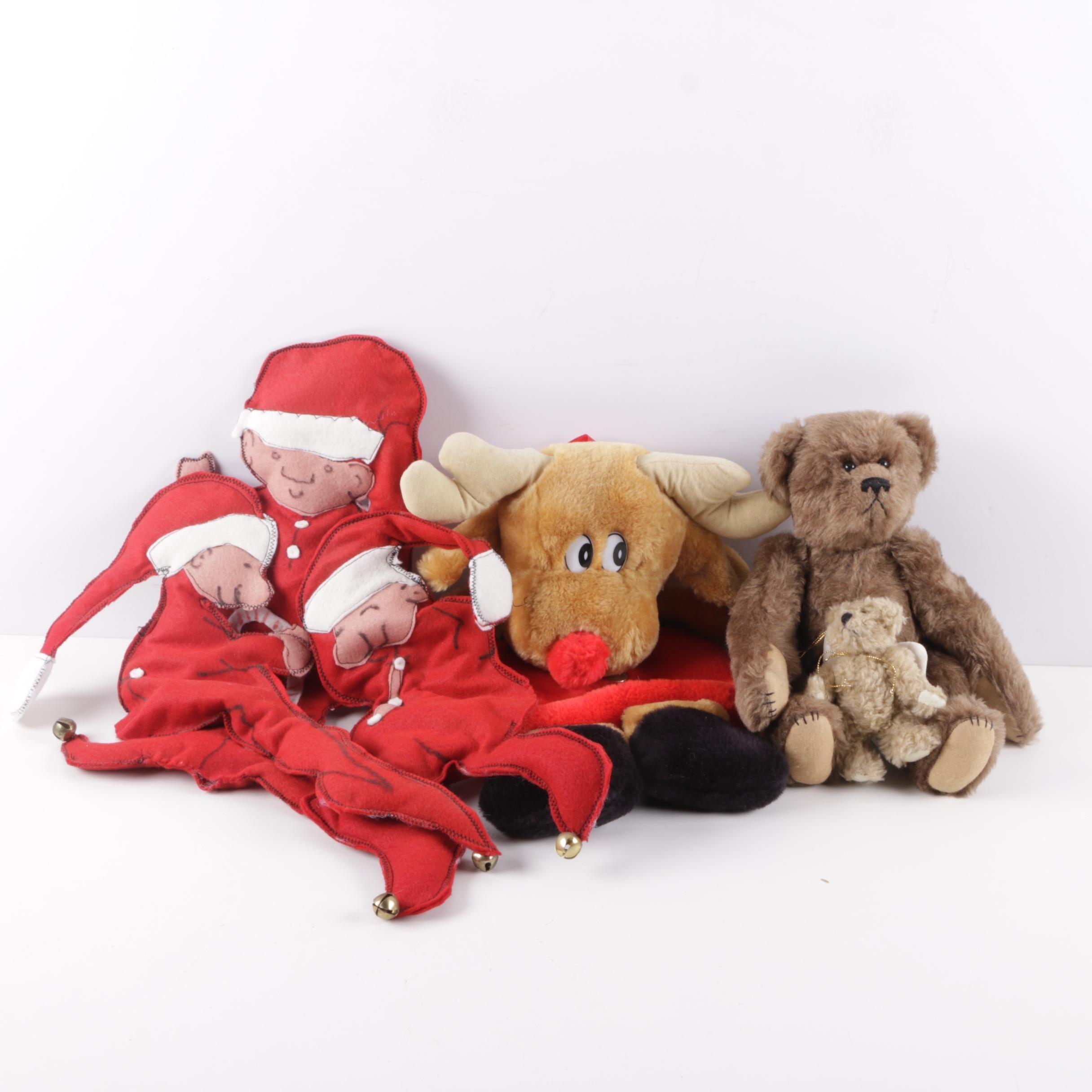 Assorted Christmas Plush Items