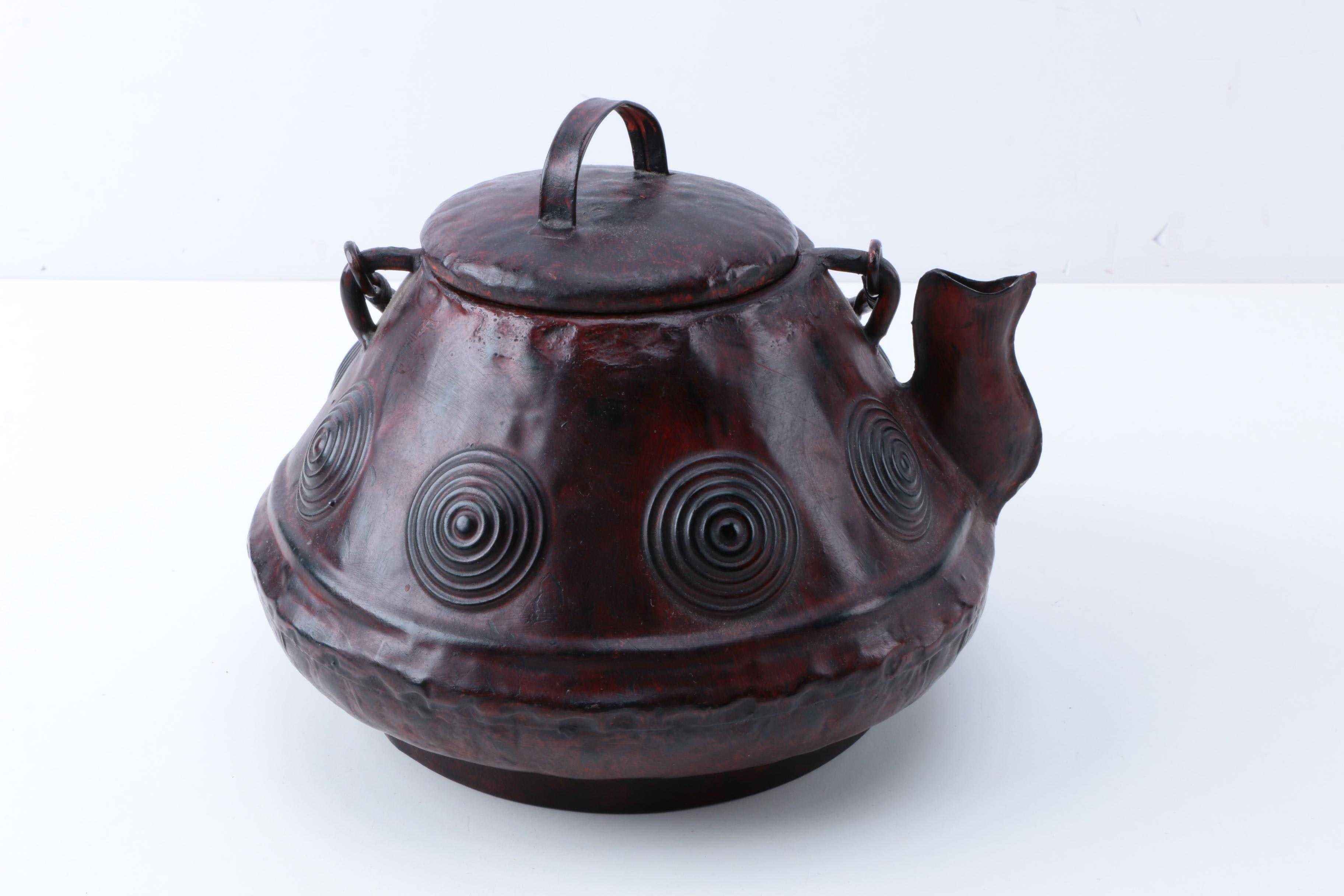 Chinese Brown Glazed Kettle
