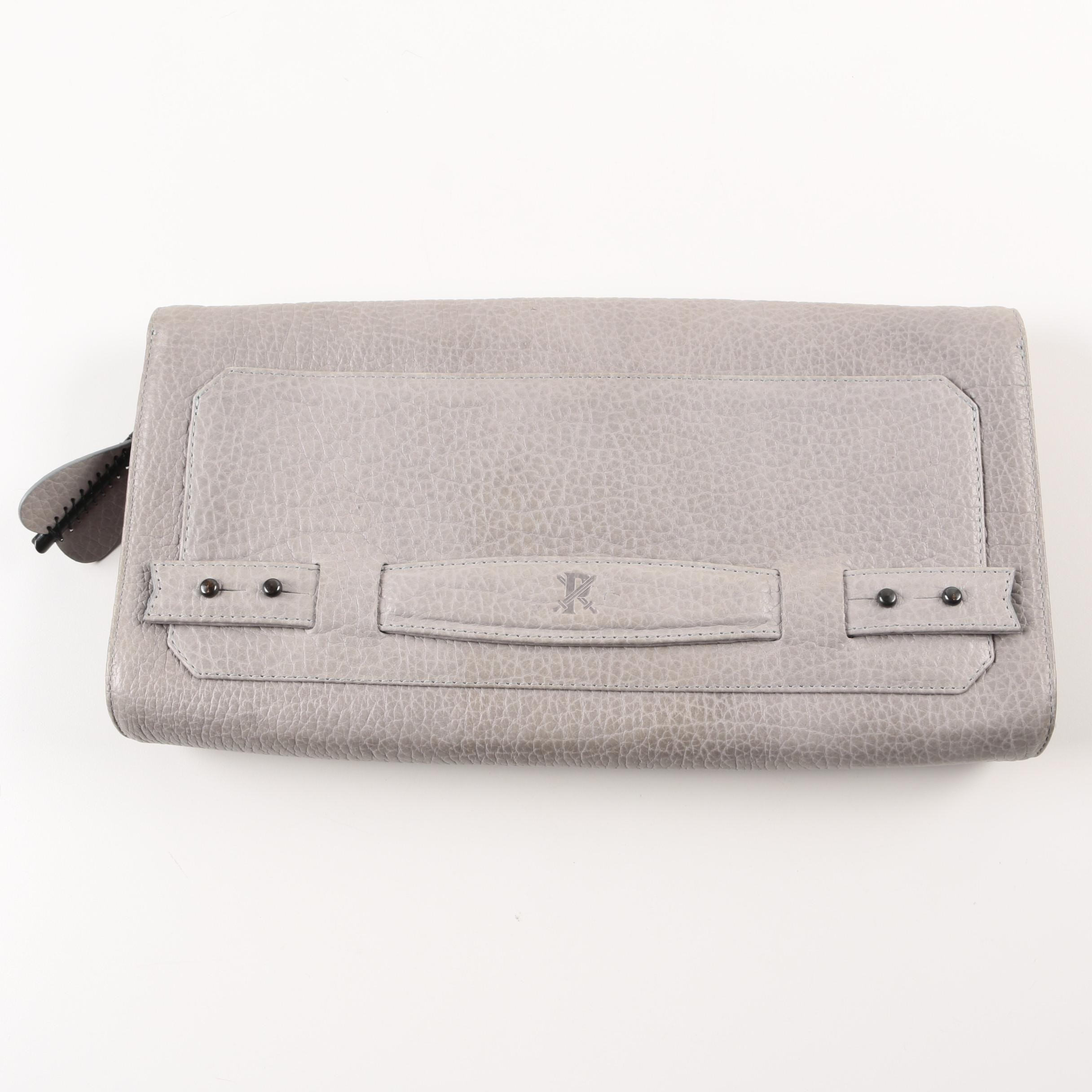 Parabellum Pebble Grained Leather Clutch
