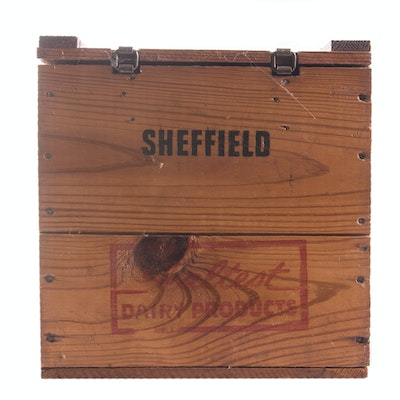Vintage Sheffield Wooden Milk Crate - Online Furniture Auctions Vintage Furniture Auction Antique