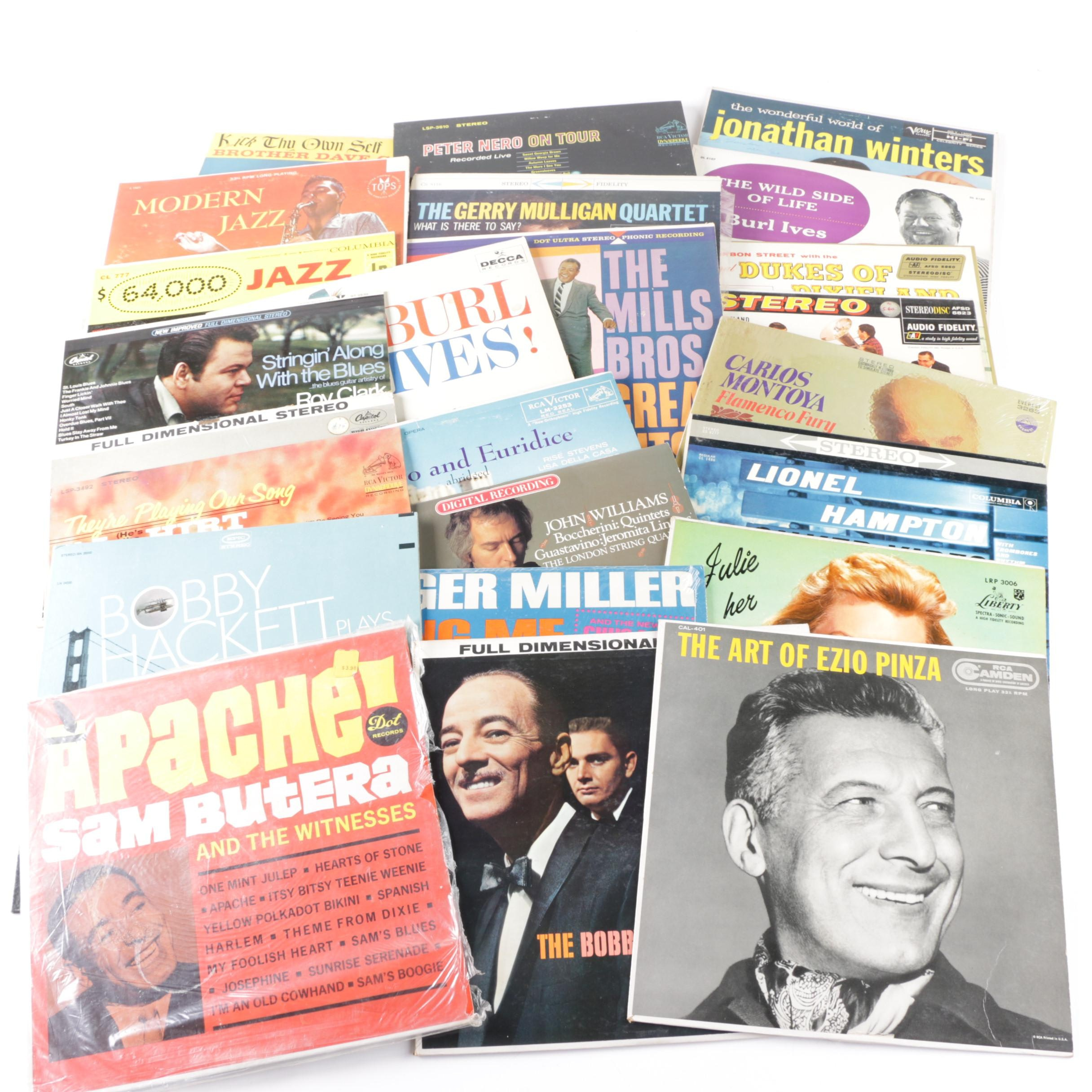 Sinatra, Gerry Mulligan, Other Jazz and Easy Listening LPs