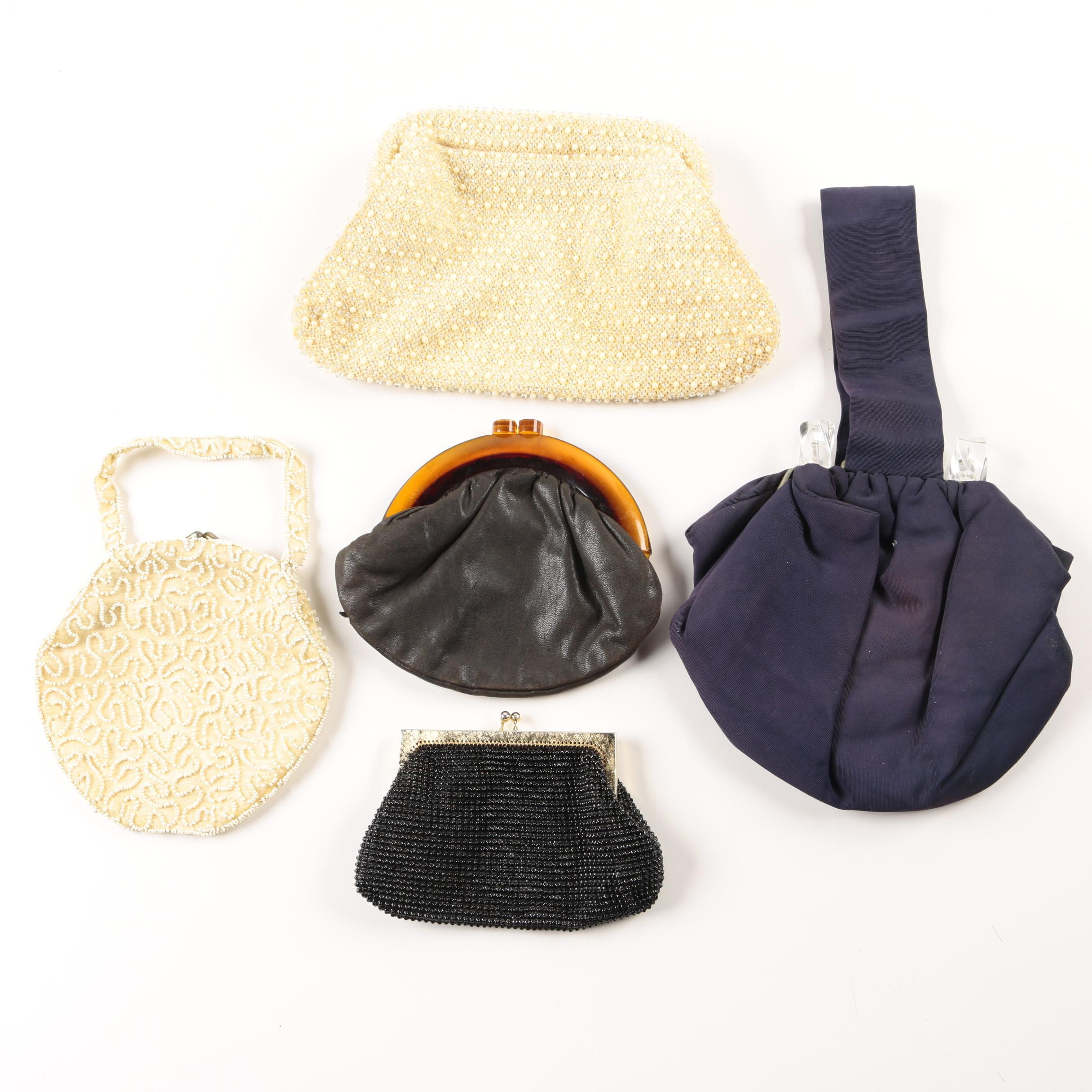 Vintage Evening Bags Including Micro Bead and Whiting and Davis