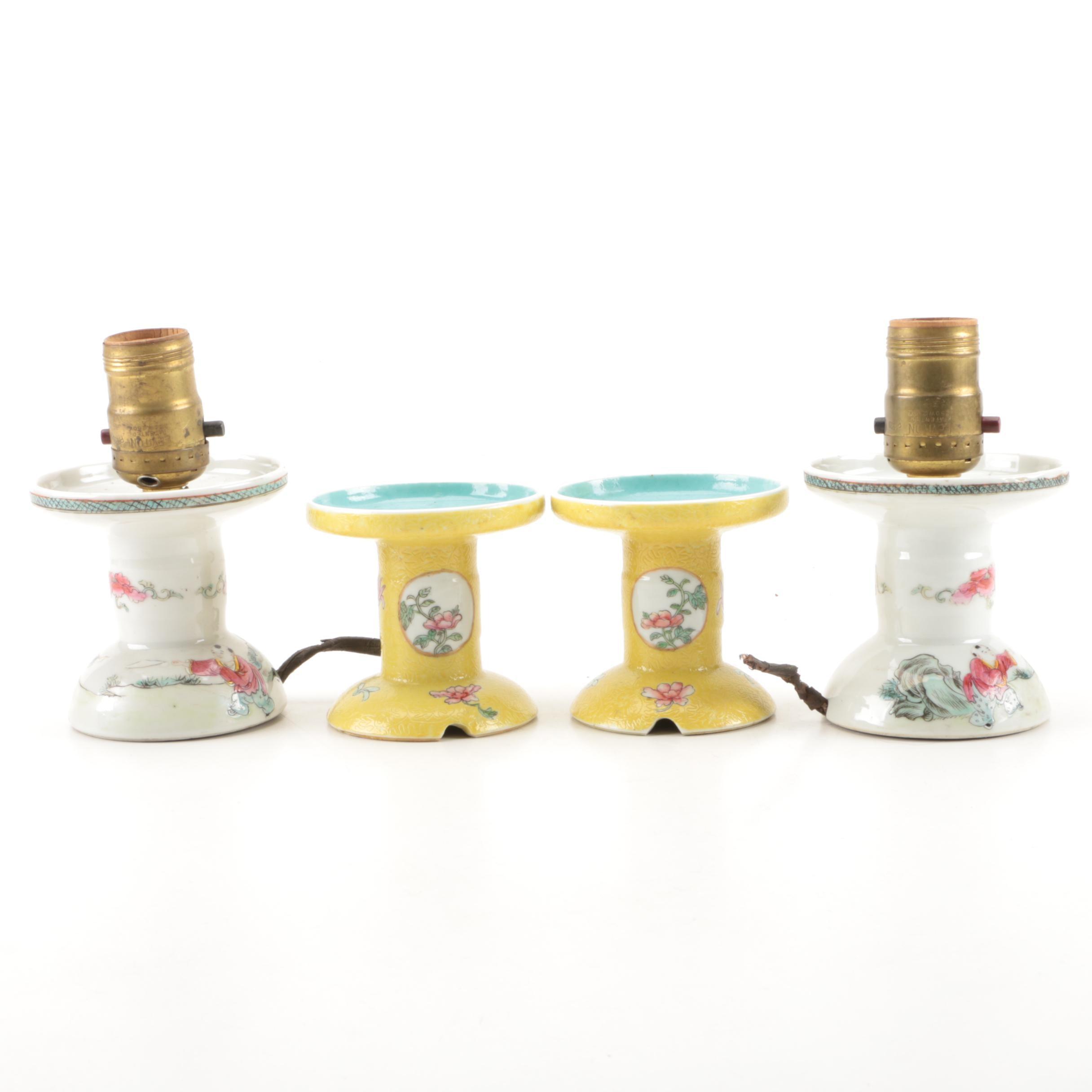 Vintage Asian Style Ceramic Lamp Bases