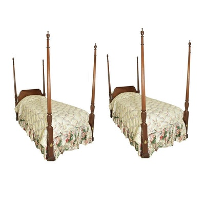 Ethan Allen Charleston Style Queen Size Four Poster Rice