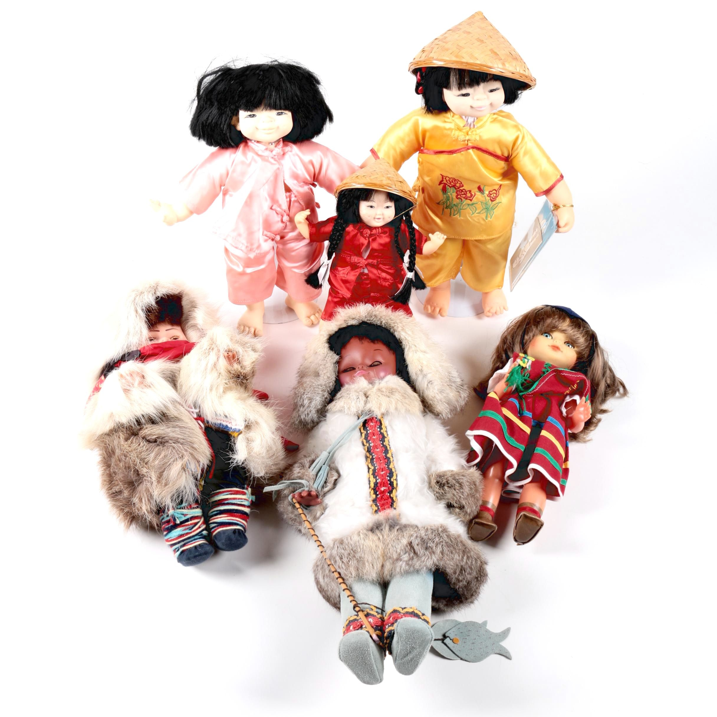 Assortment of Cultural Dolls