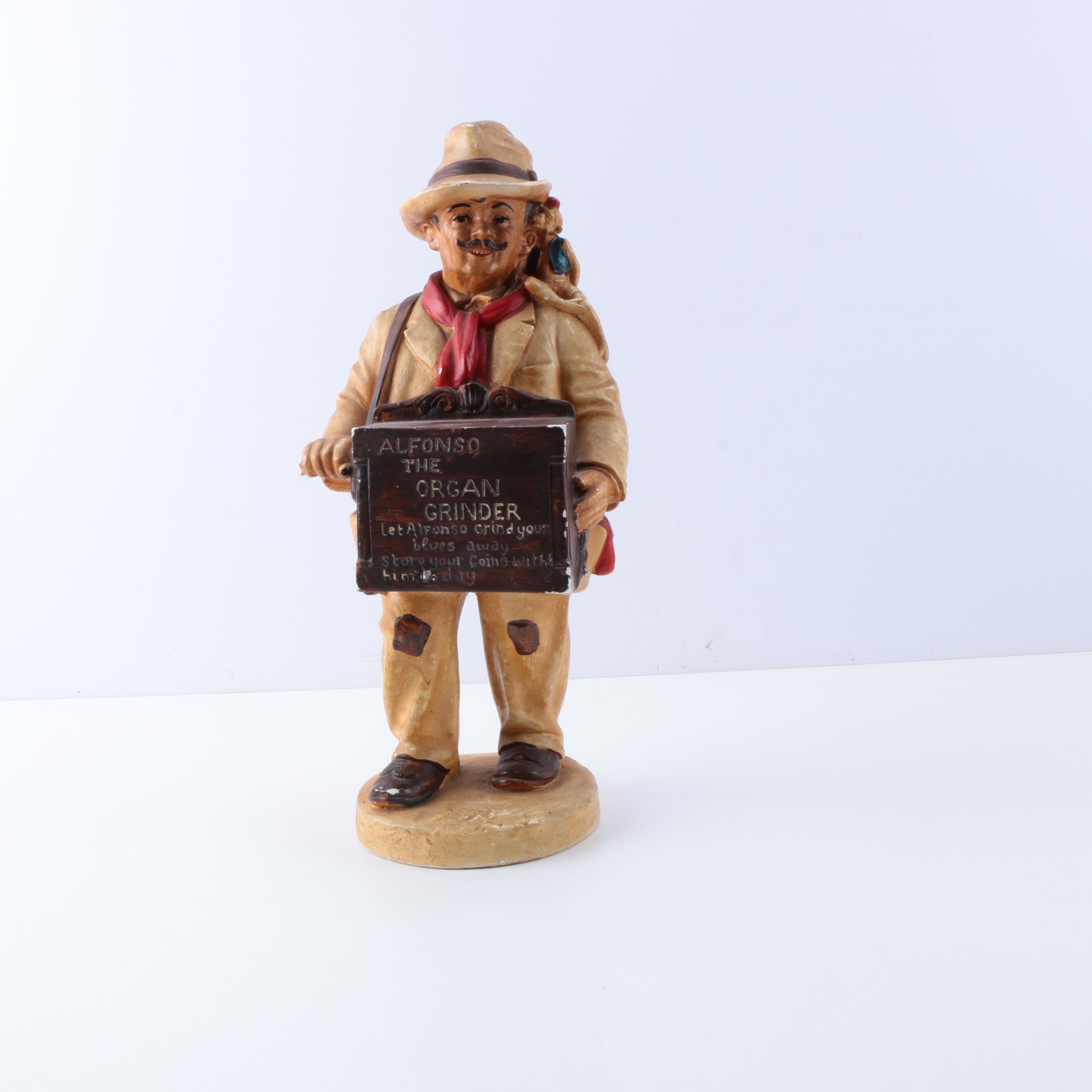 Alfonso the Organ Grinder Figurine