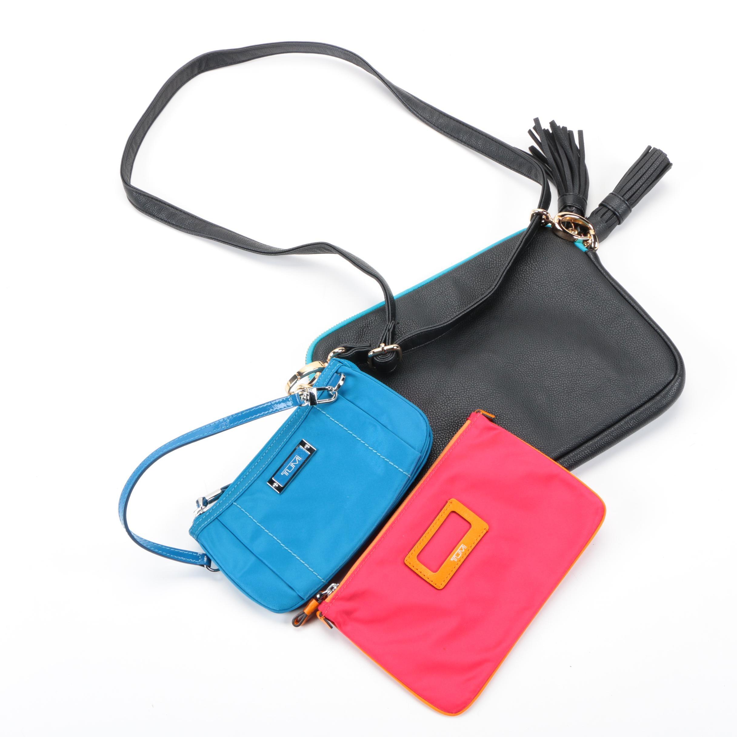 Crossbody Handbag with Tumi Wristlets
