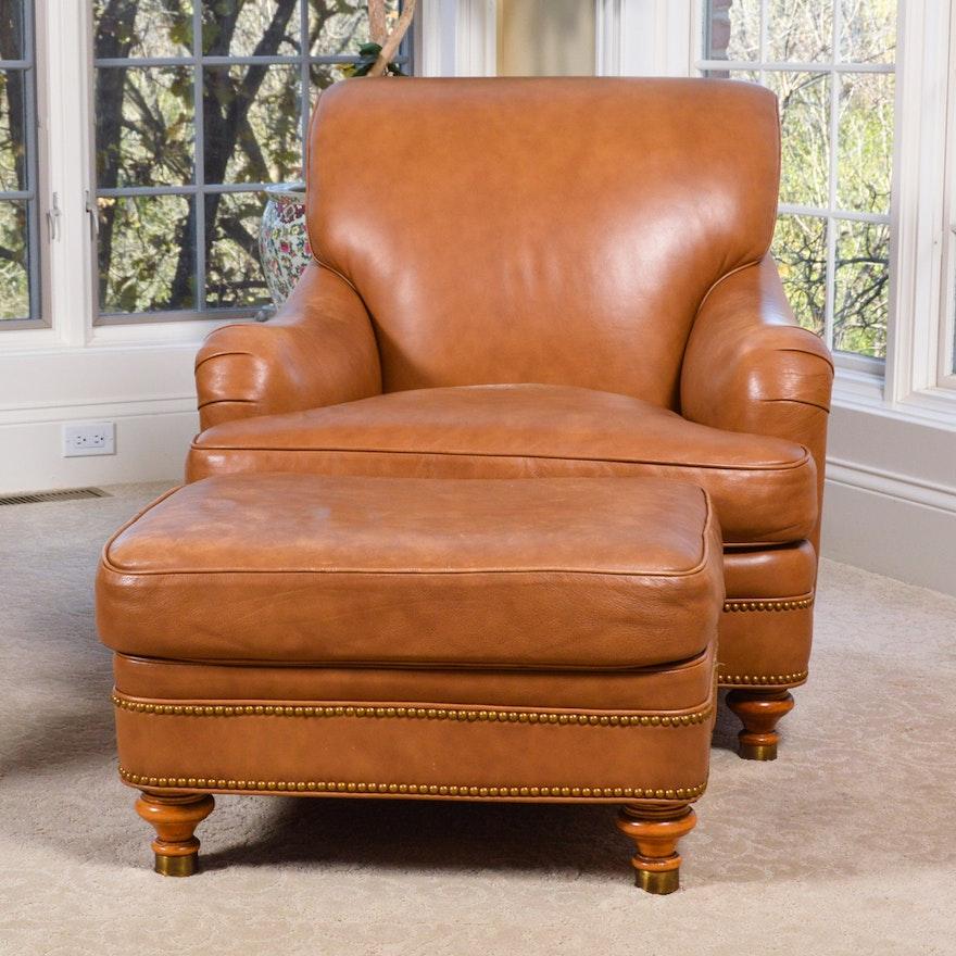 Superb Leather Club Chair And Ottoman By Hancock Moore Creativecarmelina Interior Chair Design Creativecarmelinacom