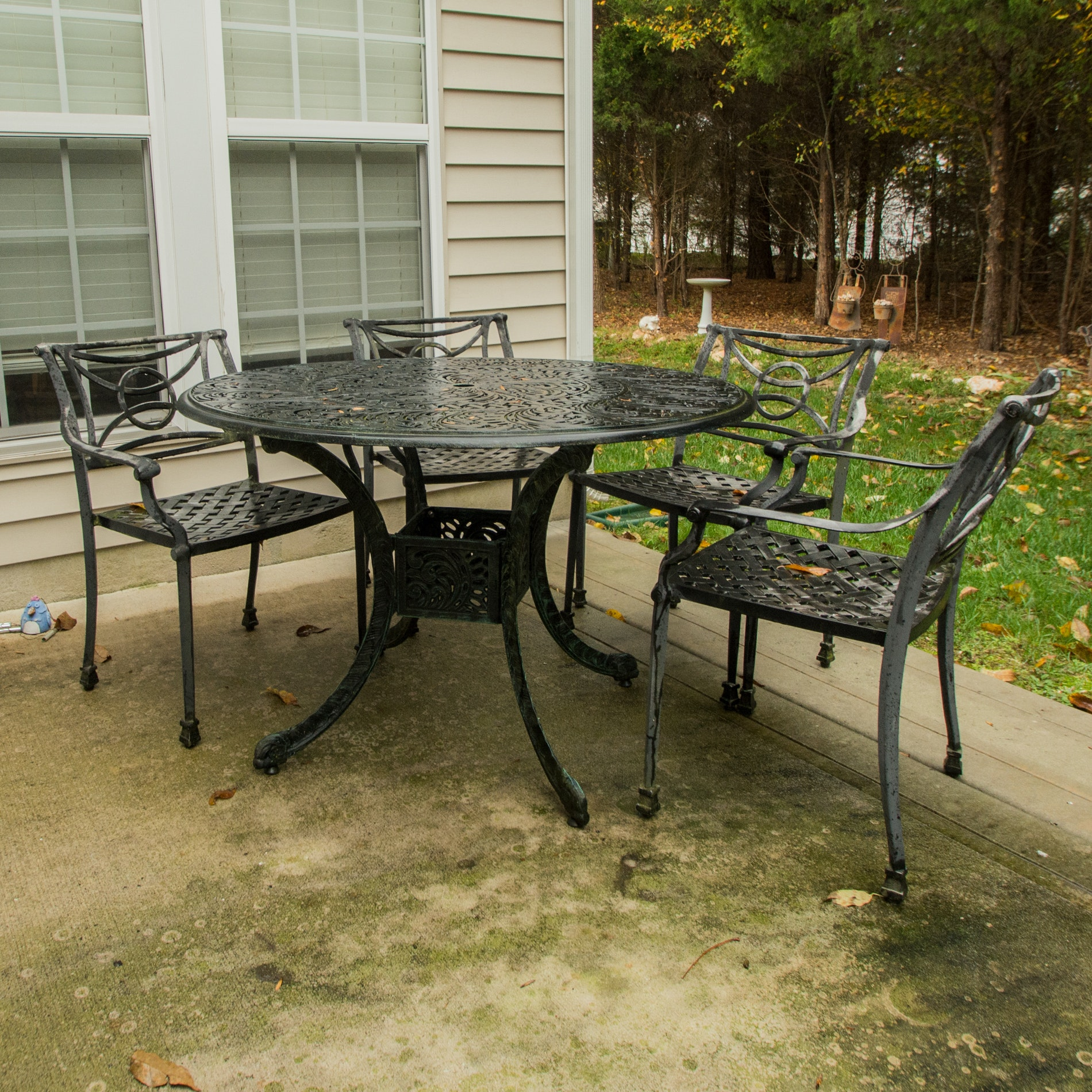 Patio Table, Chairs and Bench