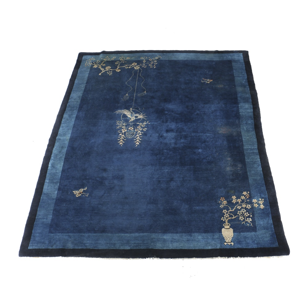 Vintage Chinese Hand Made Wool Room Size Rug