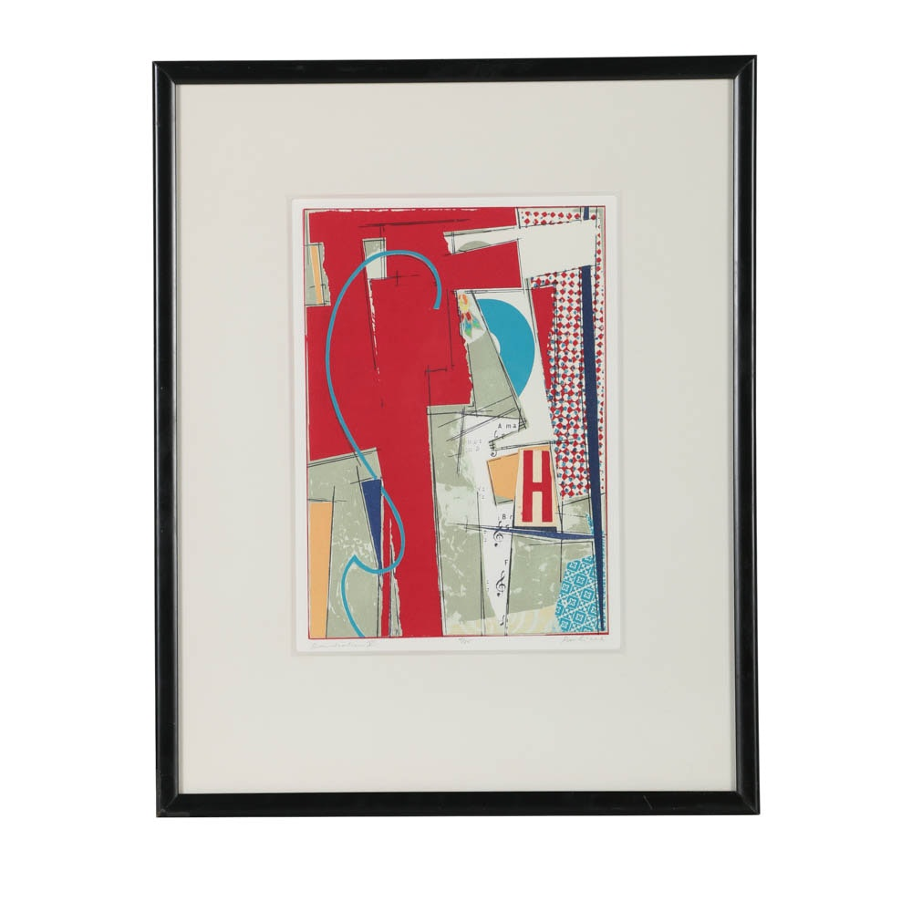 "John Pavliček Limited Edition Lithograph on Paper ""Benediction V"""