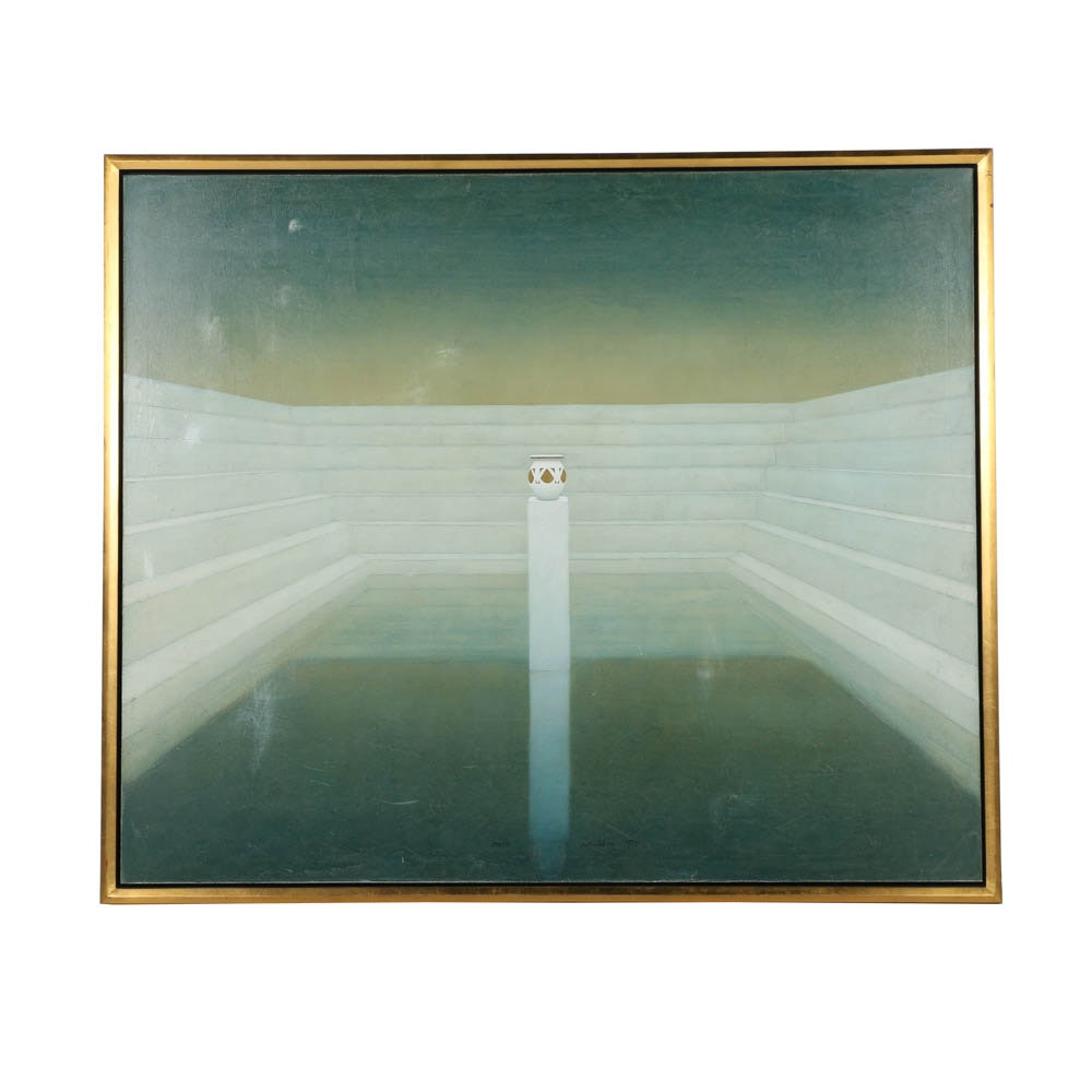 "Ron Richmond Oil Painting on Canvas ""Oracle"""