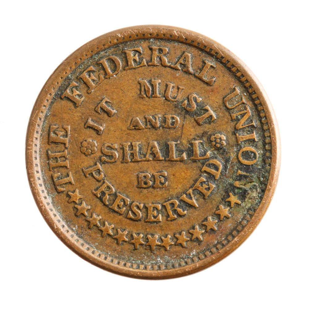 1863 Federal Union Army Navy Civil War Token