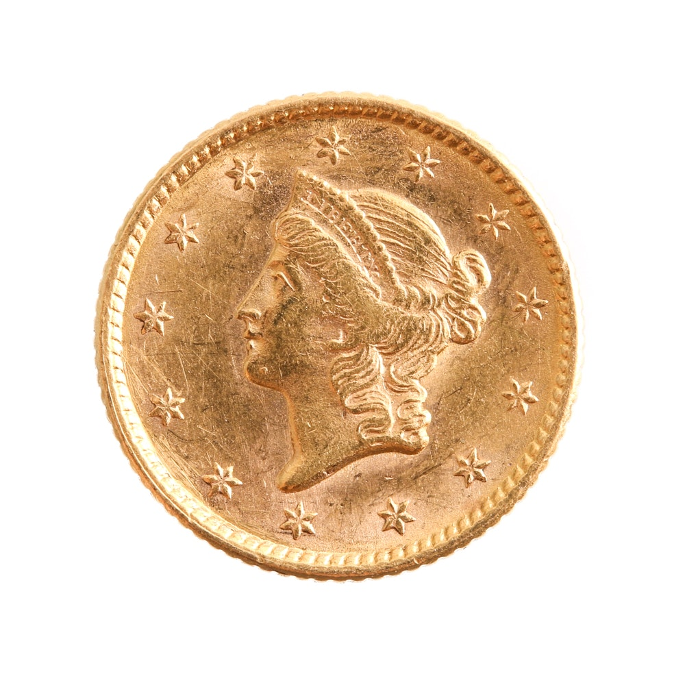 1851 Liberty Head Gold Dollar