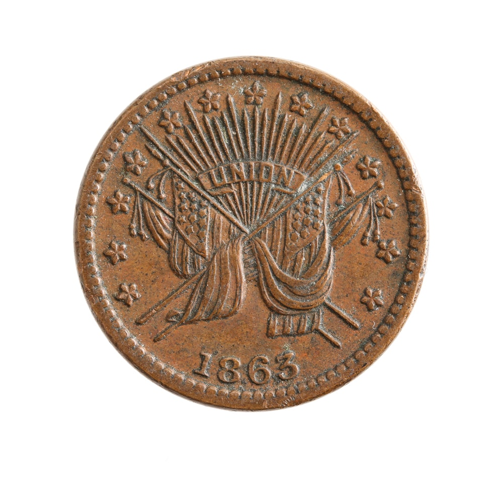 1863 Union Patriotic Civil War Token