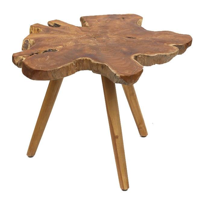 Tree Trunk Slab Side Table