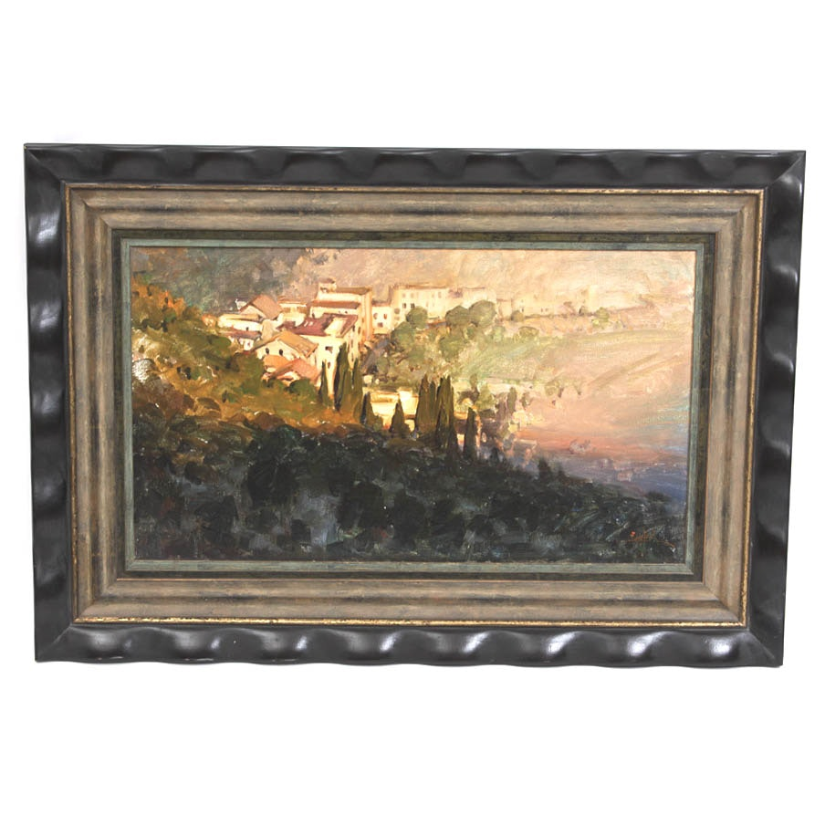 Original Oil Painting of Tuscan Landscape