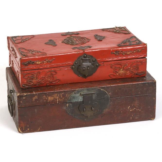 Pair of Antique Asian Boxes