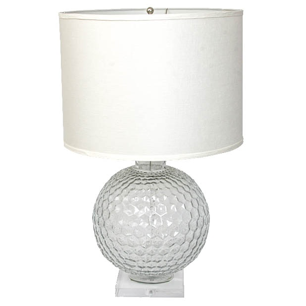 Retro Style Glass Table Lamp