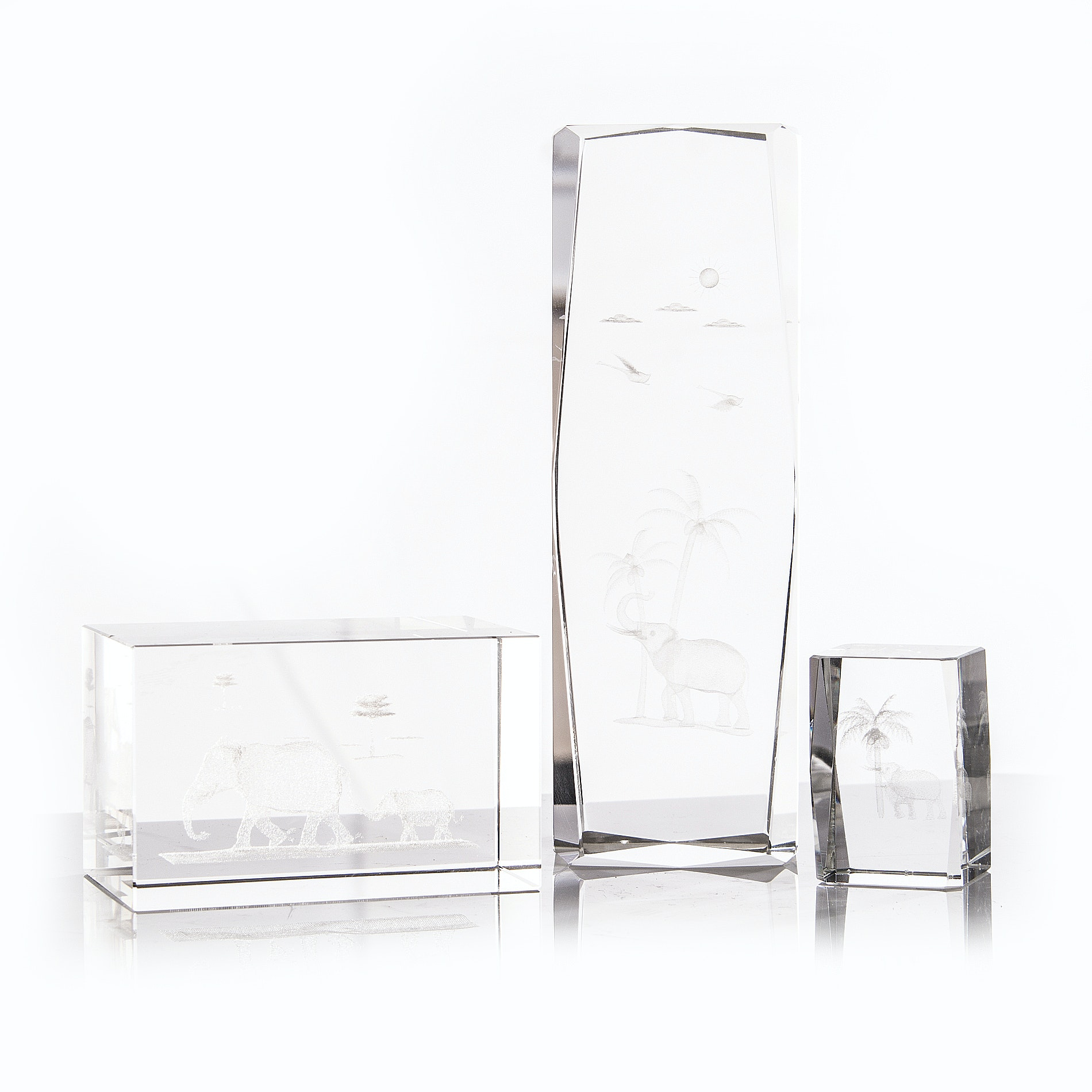 Optical Block Crystal Figurines
