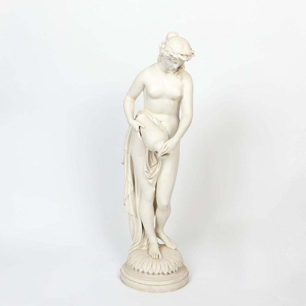 Minton Antique Parian Figure of Water Nymph