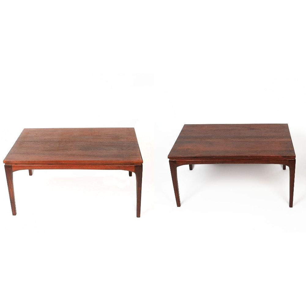 Walnut Mid Century Modern Coffee Tables by Prelude