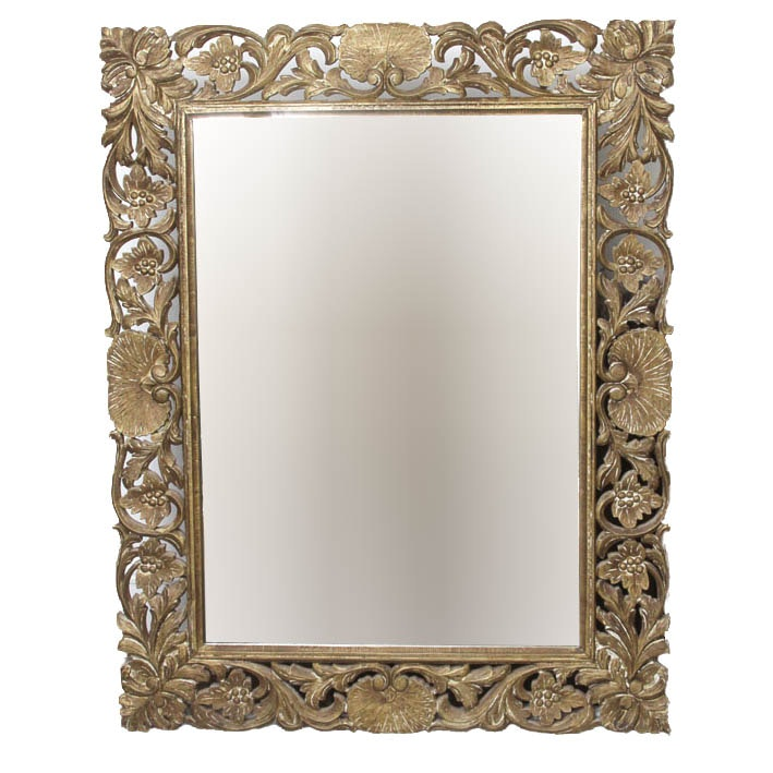 Large Ornate Carved Wall Mirror