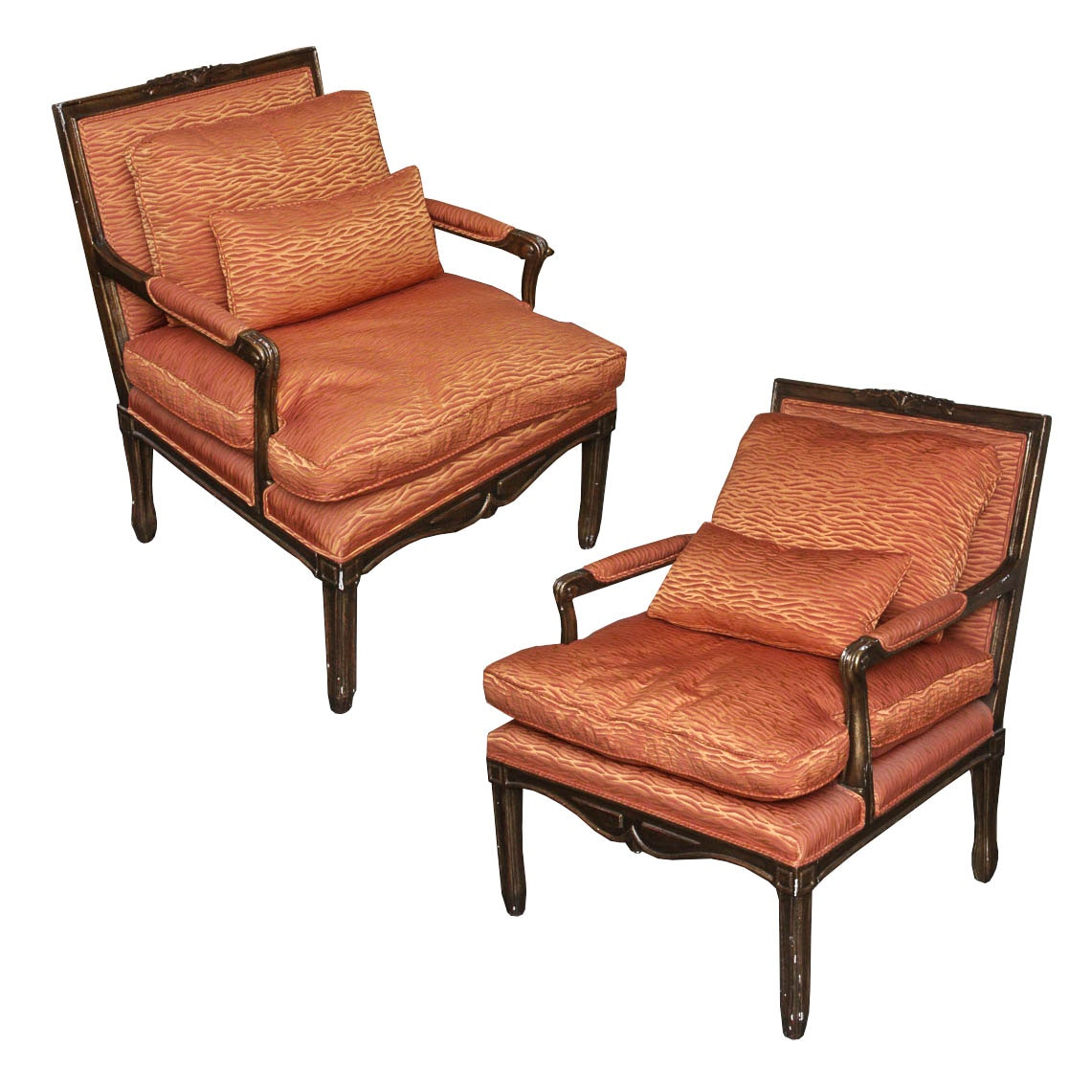 Minton-Spidell Armchairs with Throw Pillows
