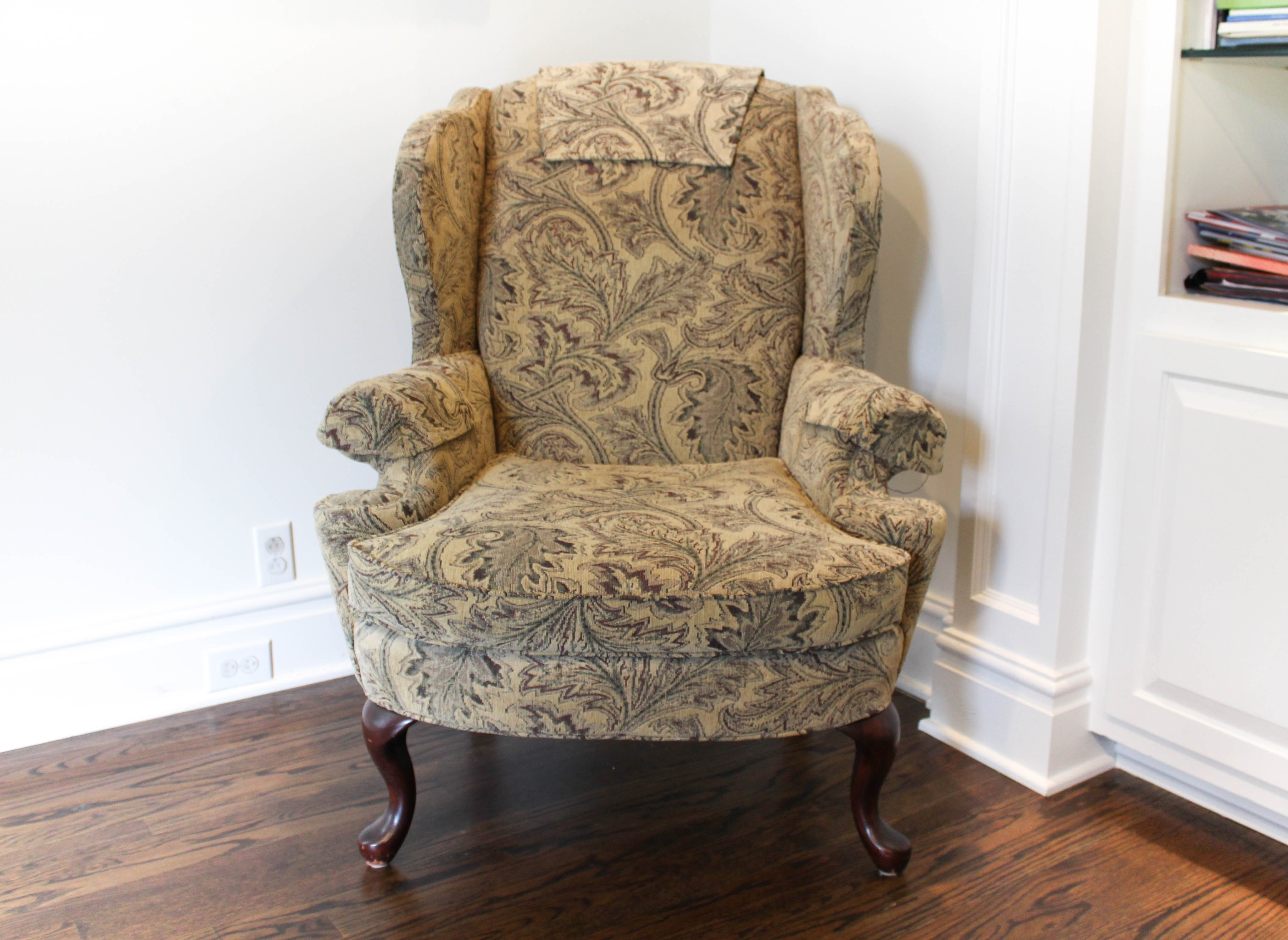 Contemporary Upholstered Wingback Chair from Norwalk