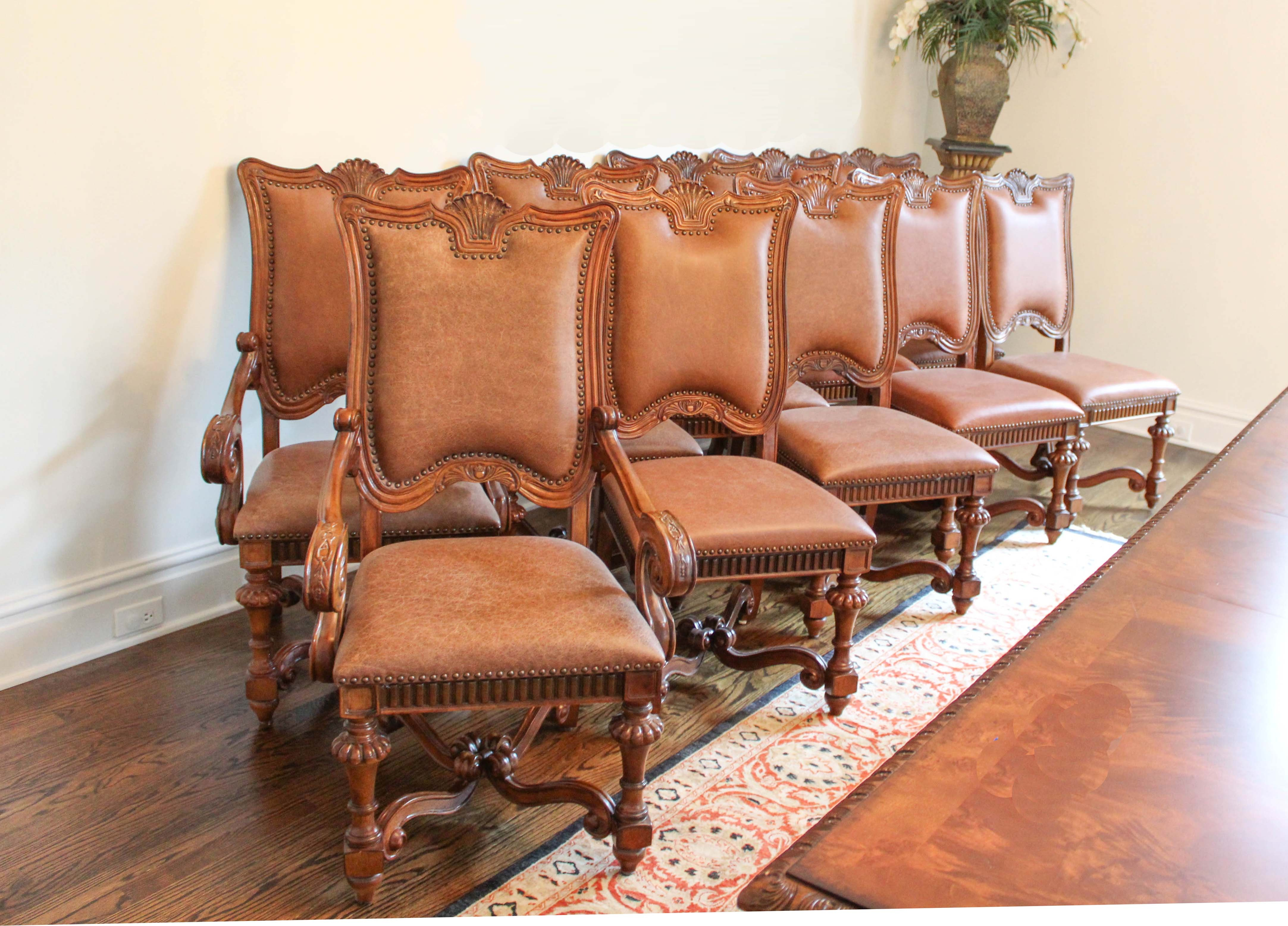 "Louis XIV Style Dining Chairs from The Biltmore Estate's ""Chateau Collection"""