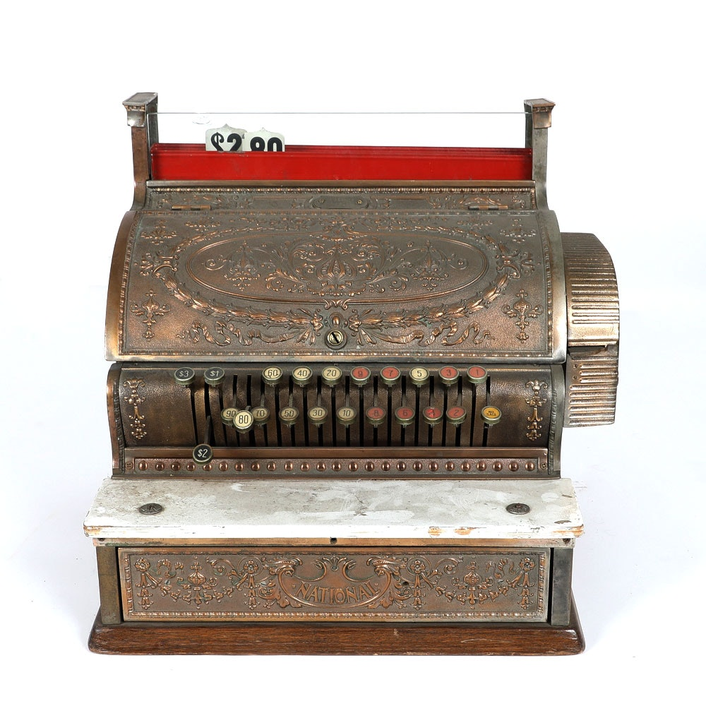 Antique National Cash Register Co. Register
