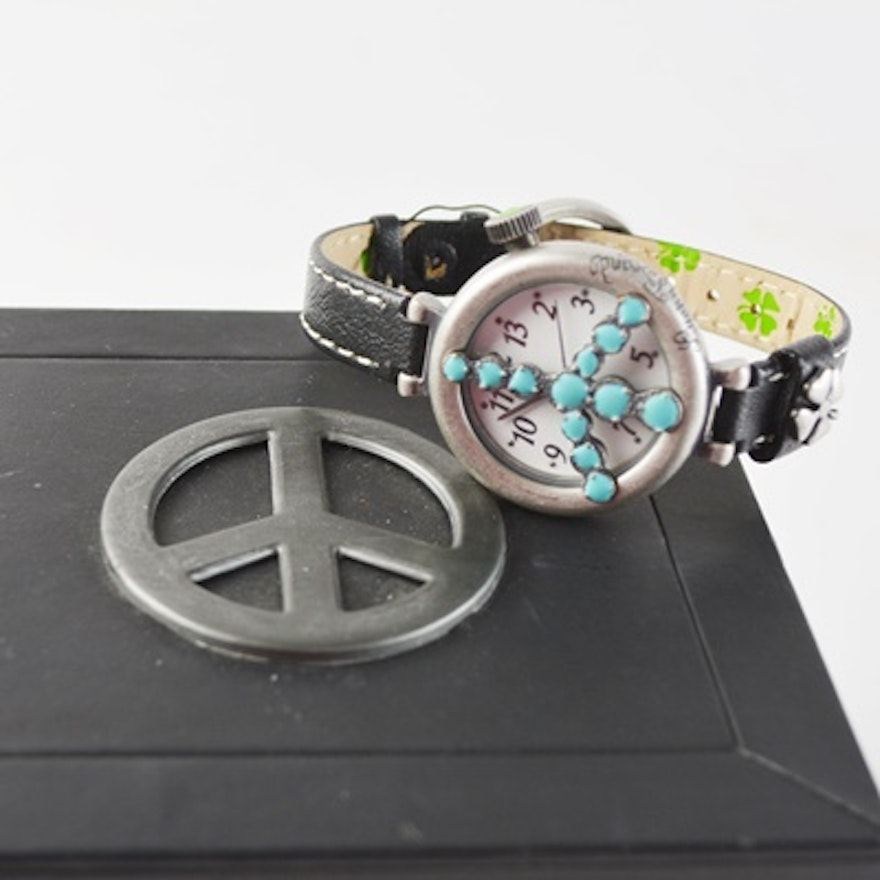 Lucky Brand 🍀 Peace ️ Sign Watch | Lucky brand, Leather ... |Lucky Brand Peace Watch
