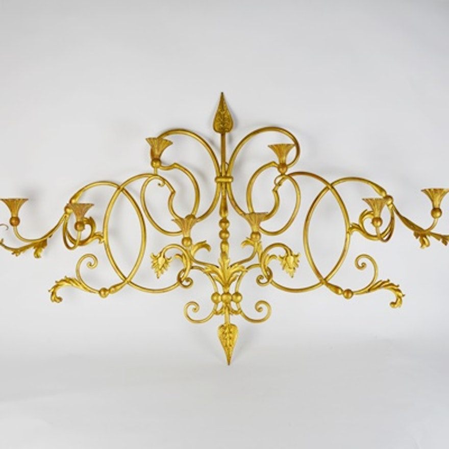 Decorative Rococo Style Wall Panel Candle Sconce : EBTH