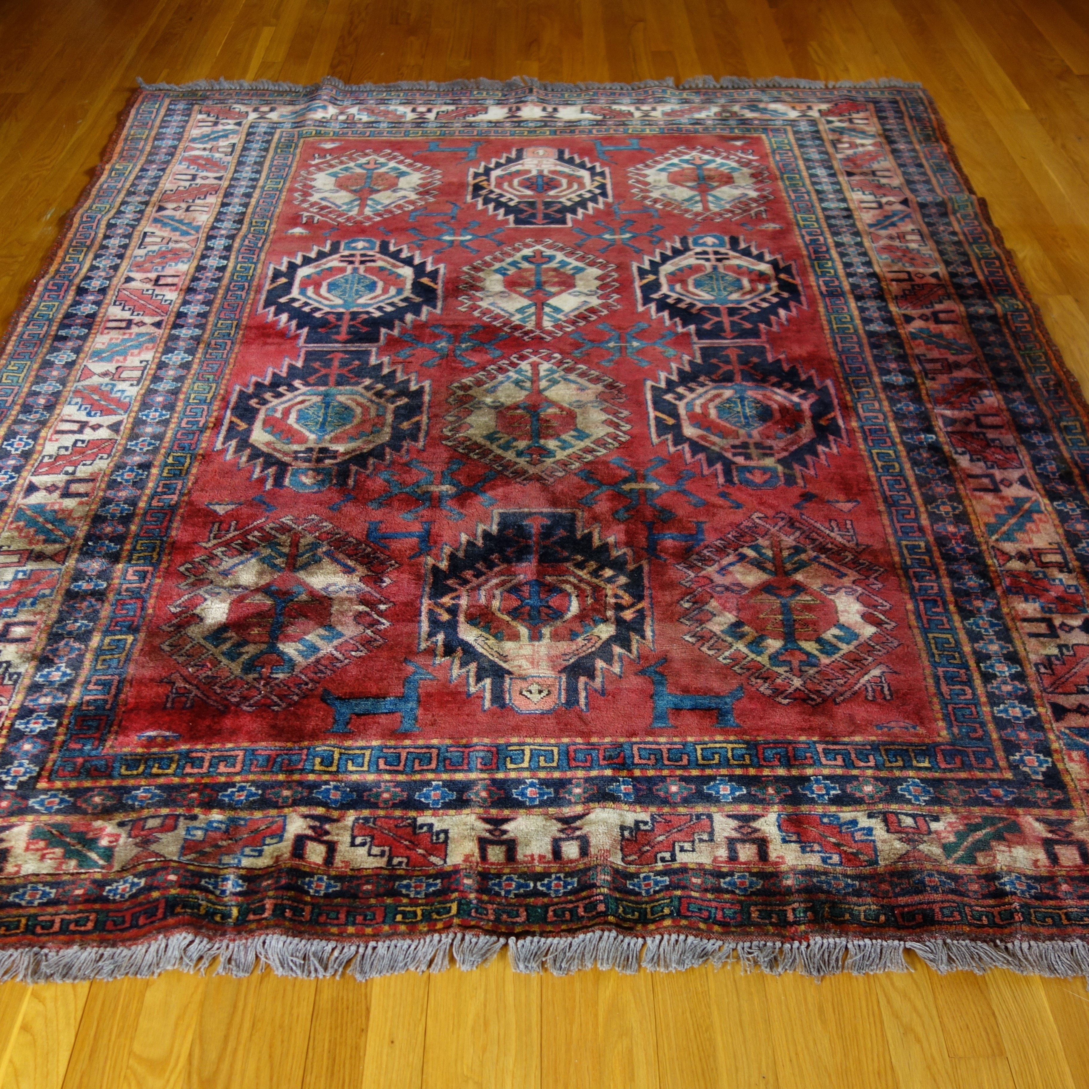 Hand-Knotted Dagestani Wool Area Rug