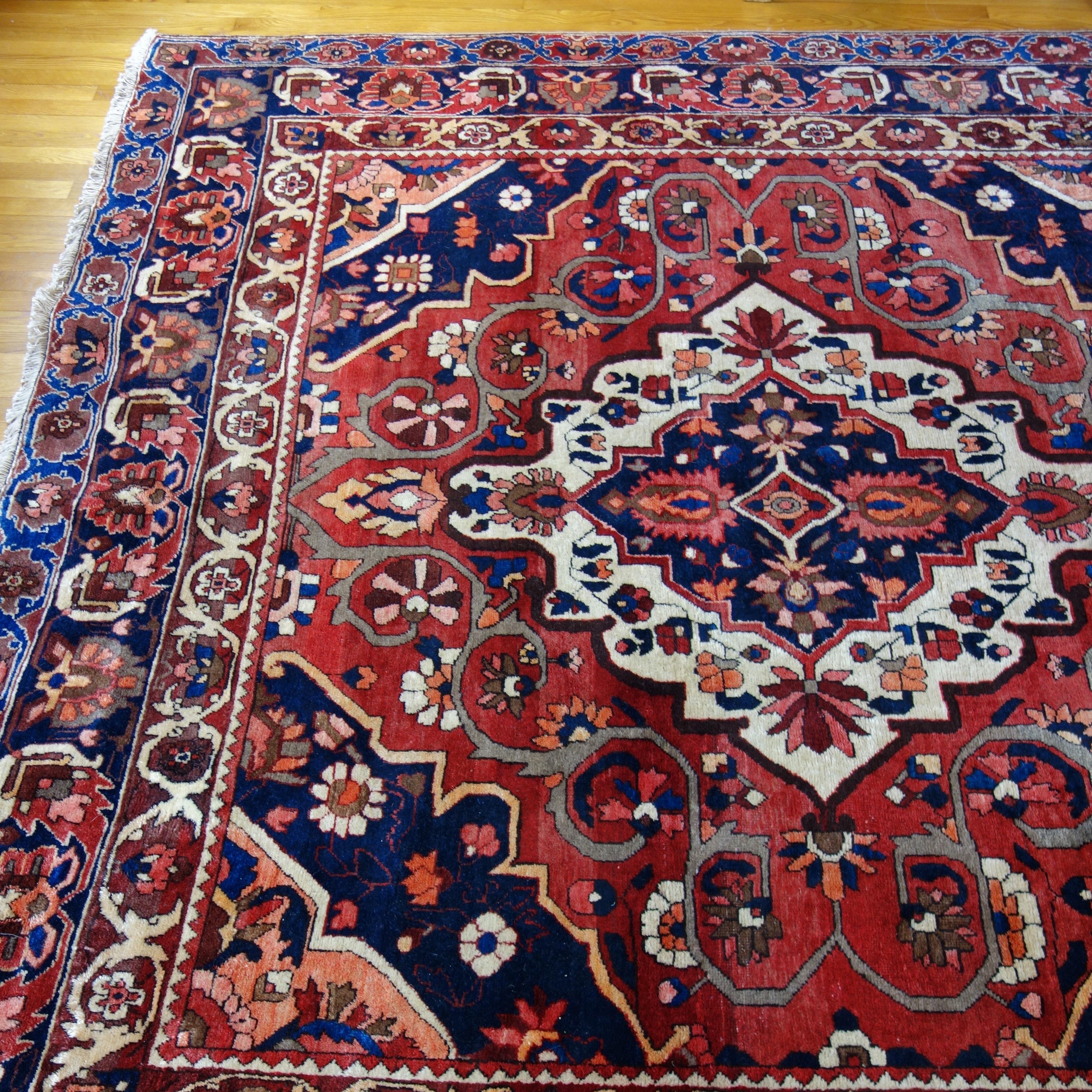 Hand-Knotted Armenian Bakhtiari Wool Area Rug