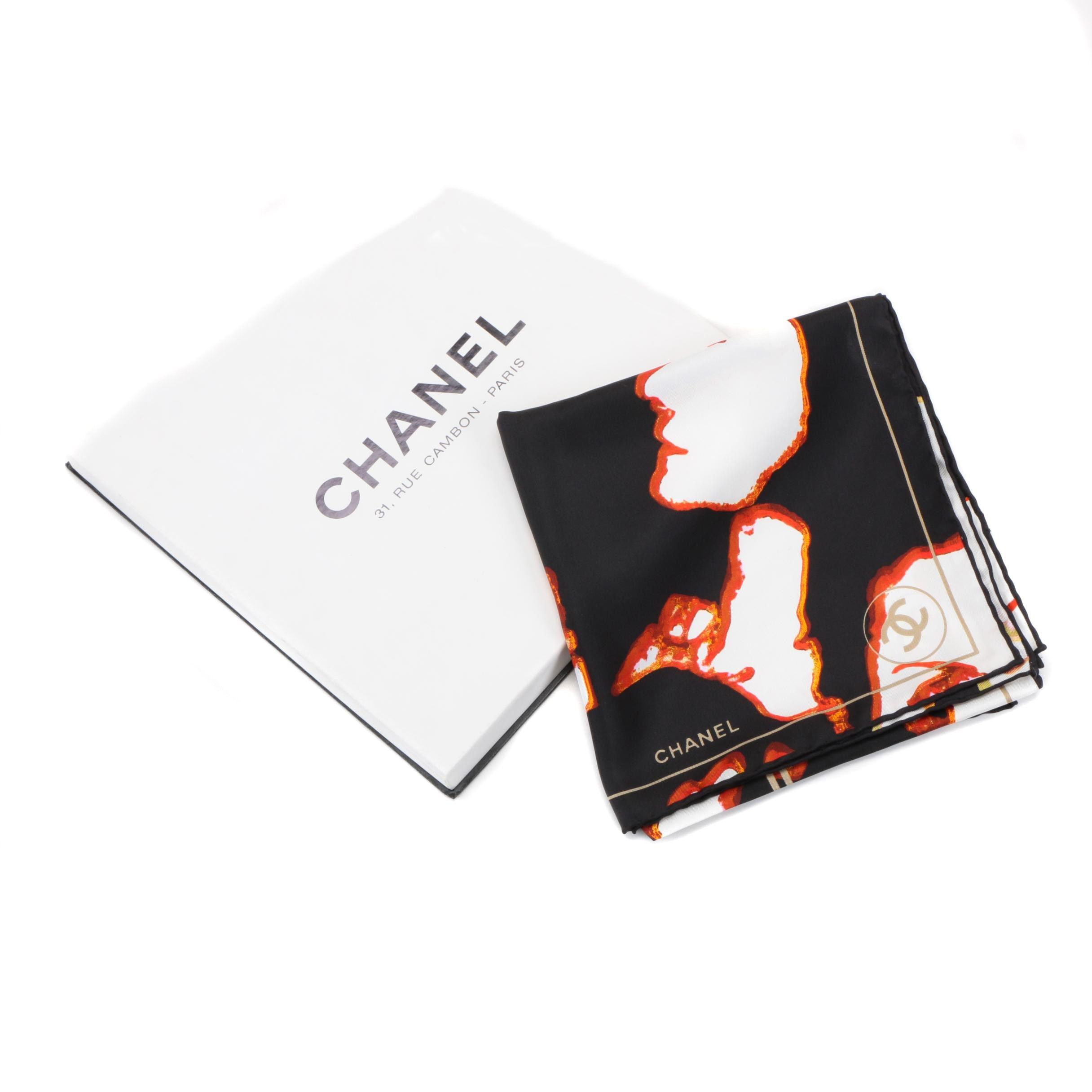 Chanel Portrait Silk Scarf