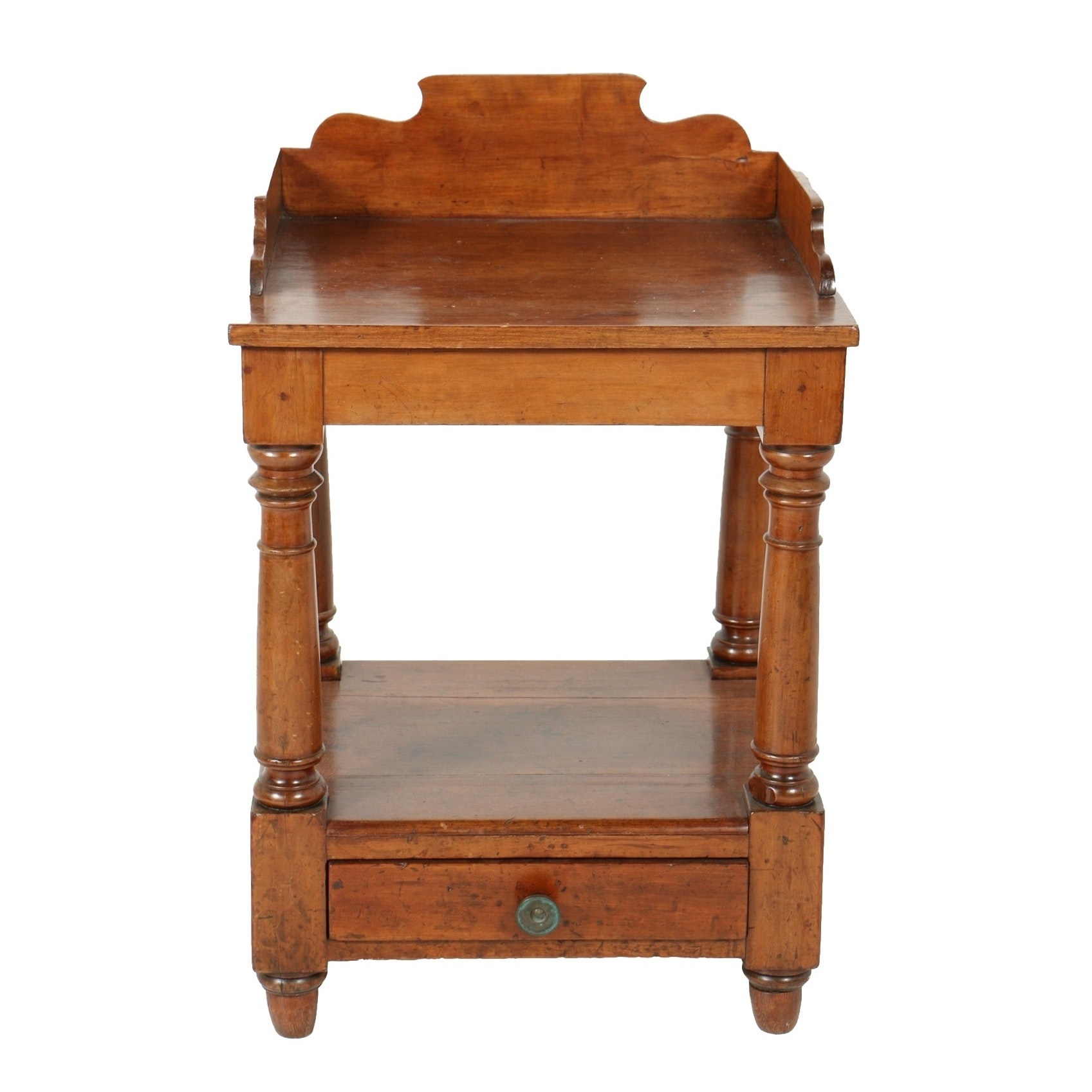 Antique Country Sheraton Cherry Washstand, Circa Second Quarter 19th Century