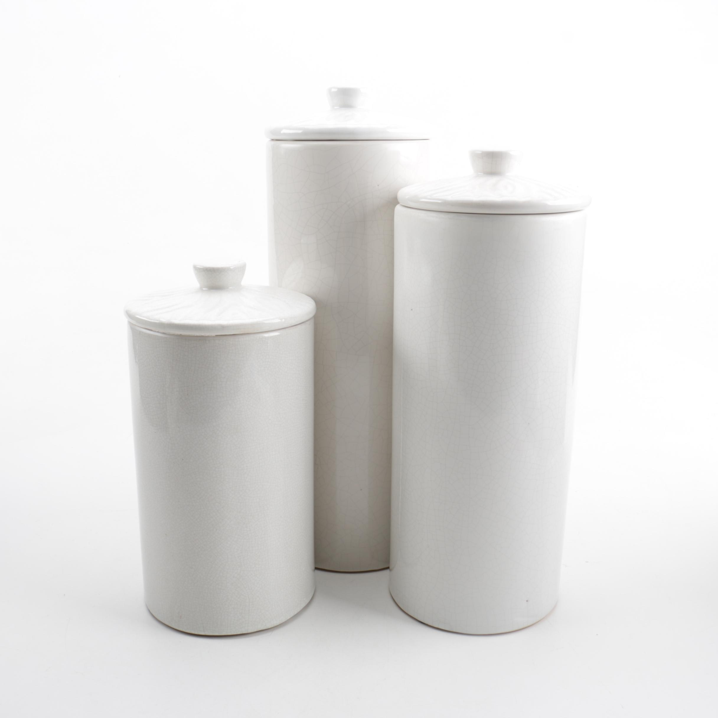 White Ceramic Canister Set
