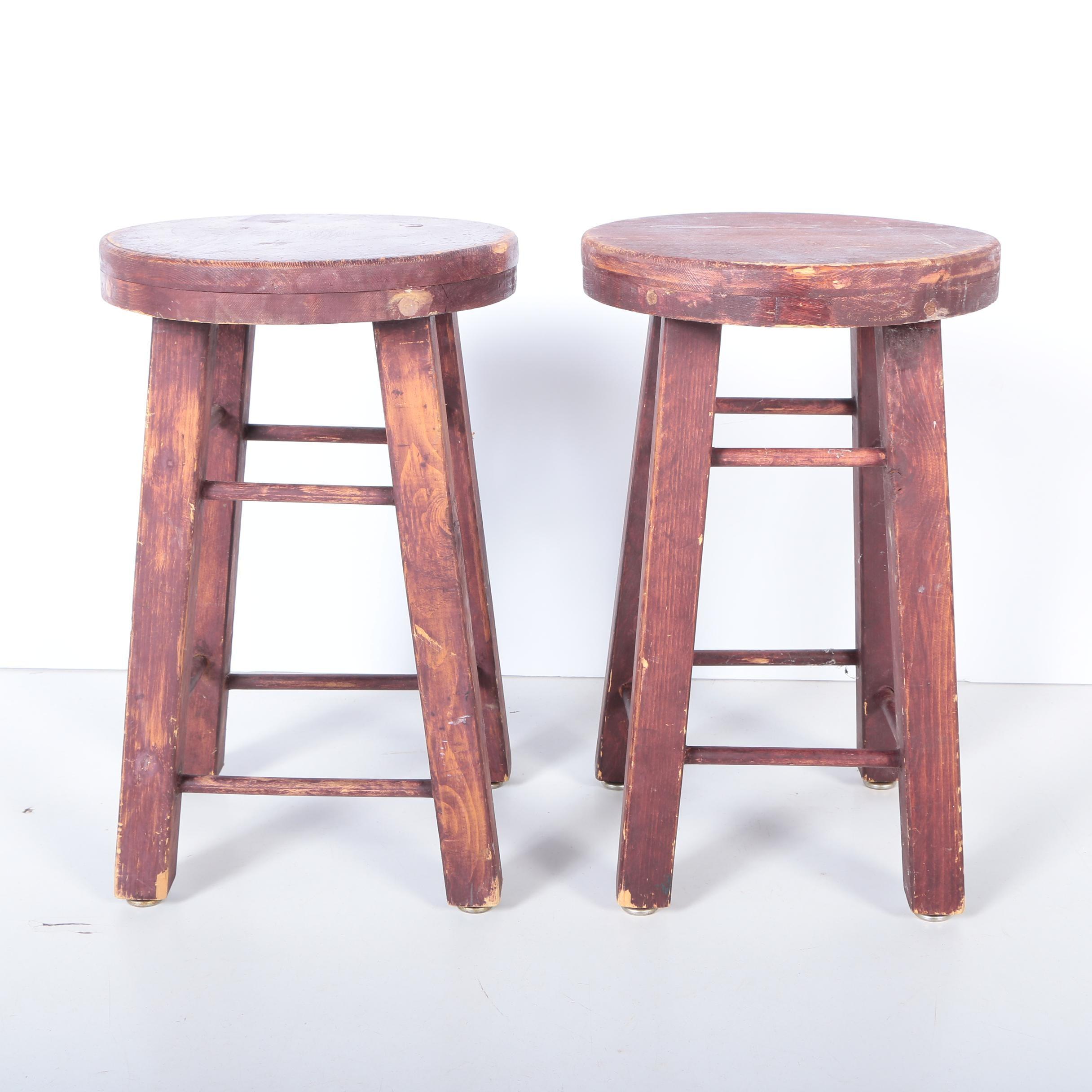 Rustic Wooden Stools