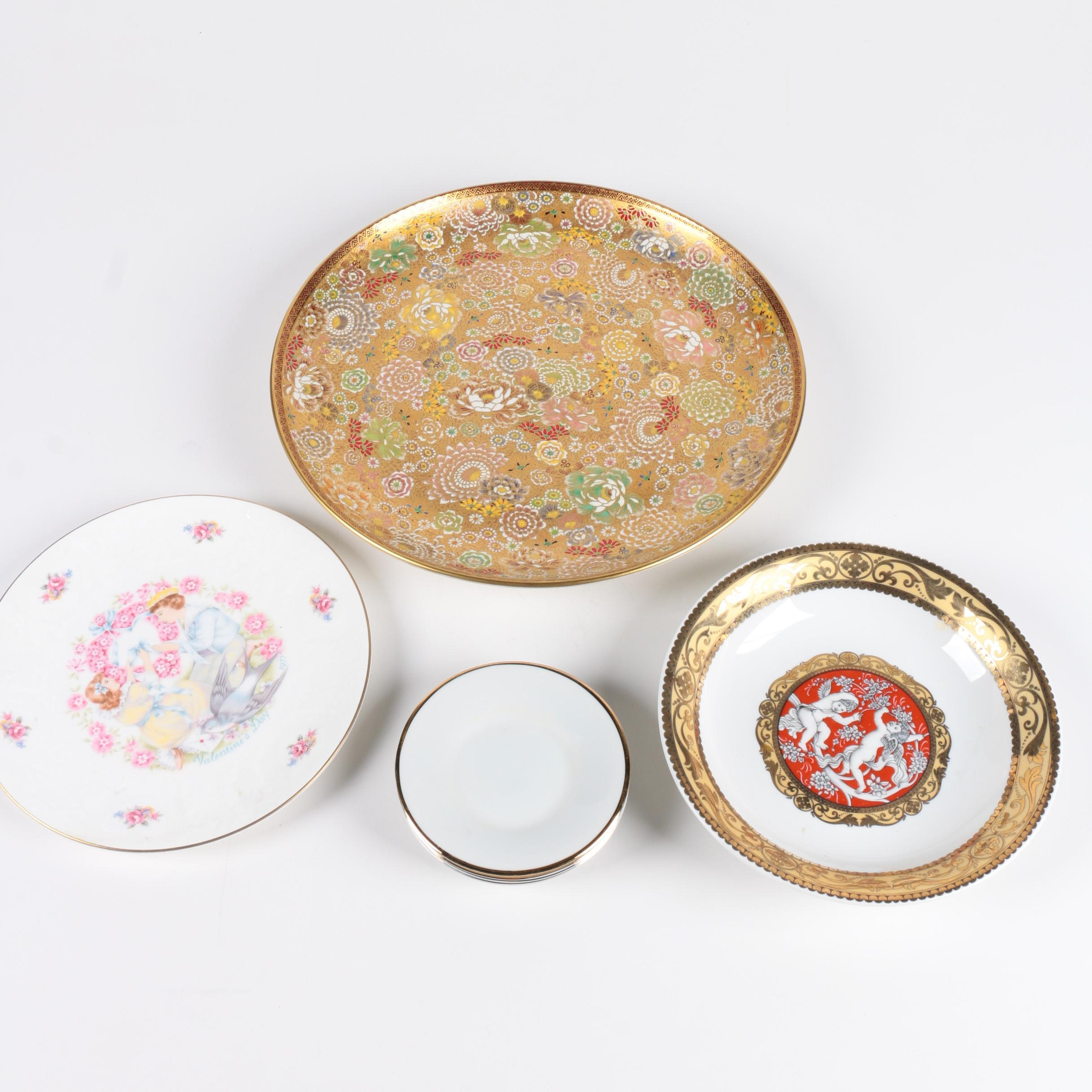 Assortment of Decorative Classical Style Plates