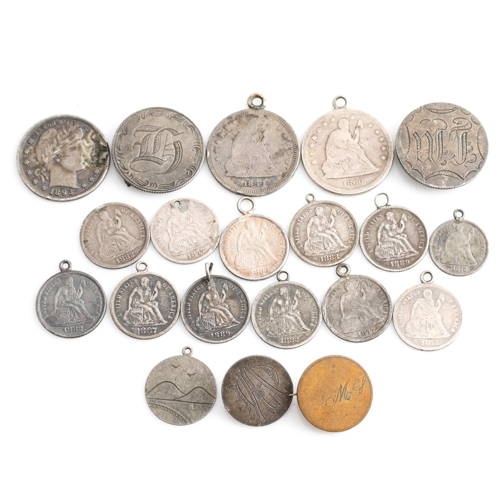 Antique United States Coinage Love Tokens