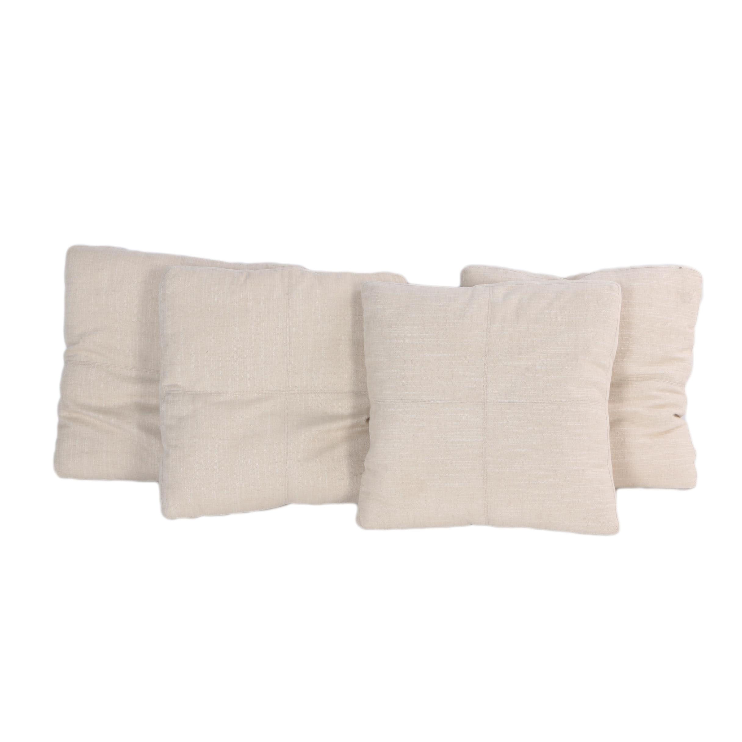 Square Linen Throw Pillows