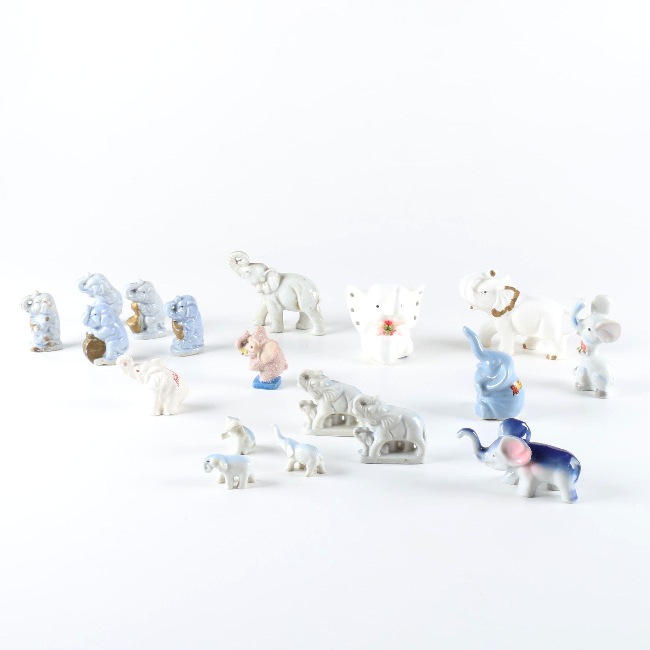 Collection of  Ceramic Elephant Figurines