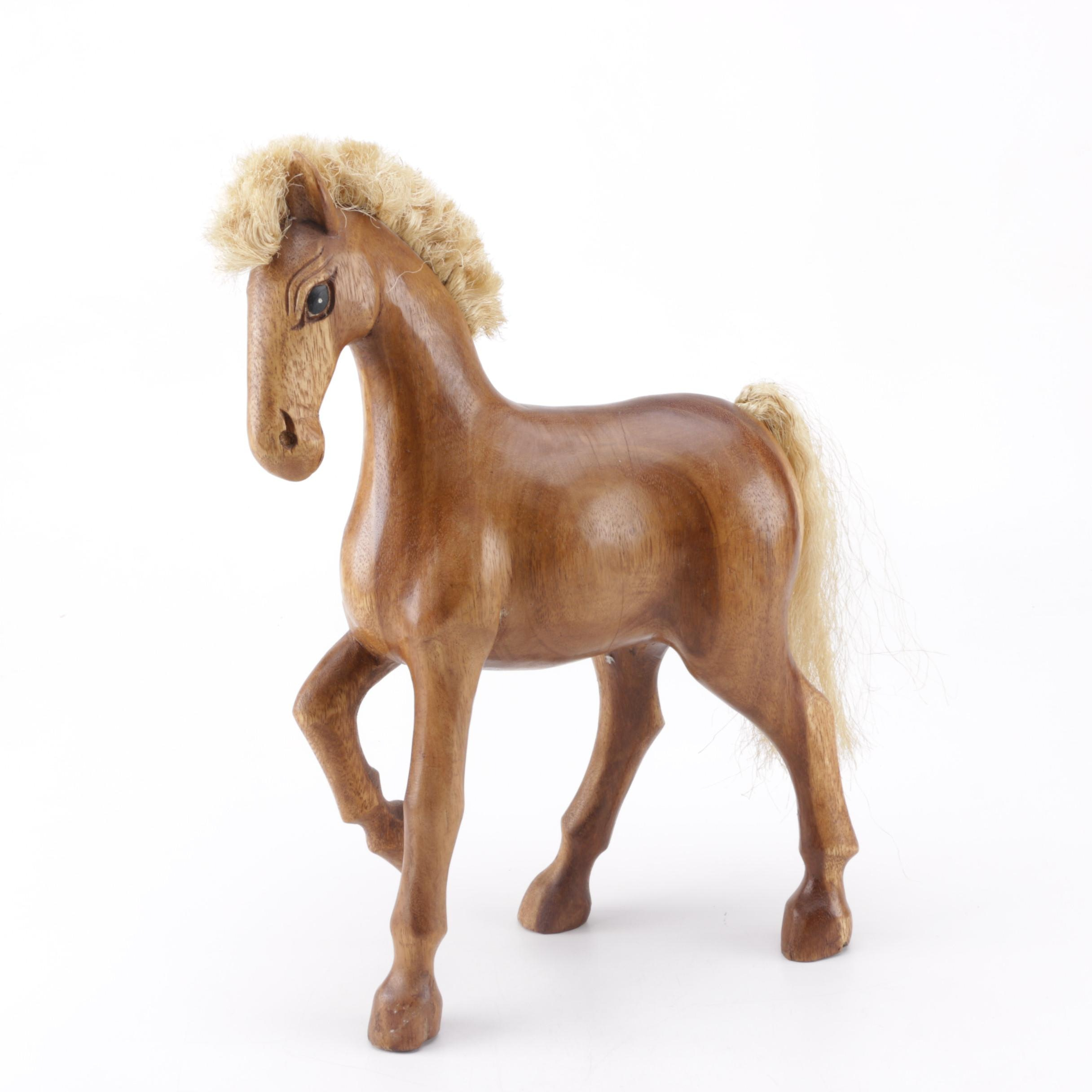 Decorative Carved Wooden Horse