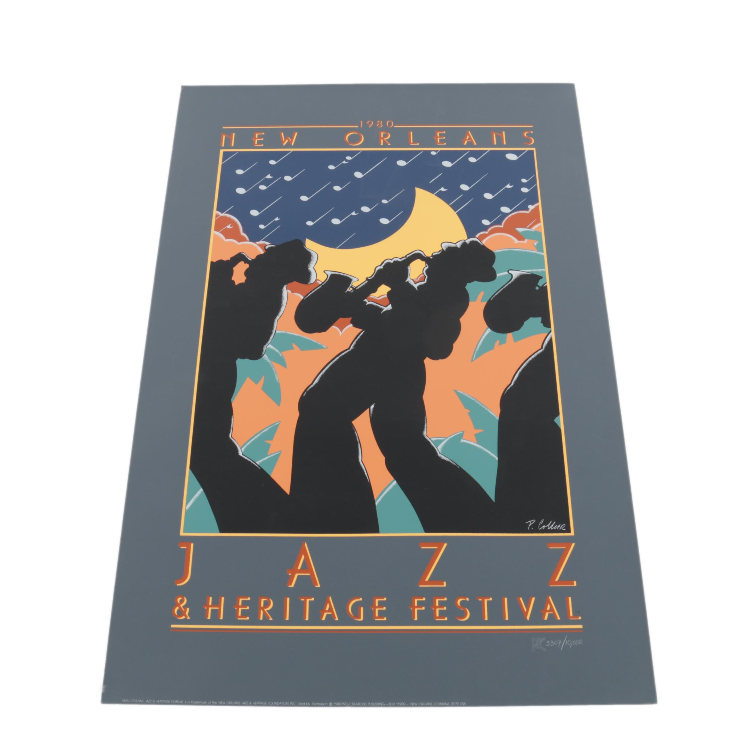 Collier Limited Edition 1980 New Orleans Jazz and Heritage Festival Serigraph