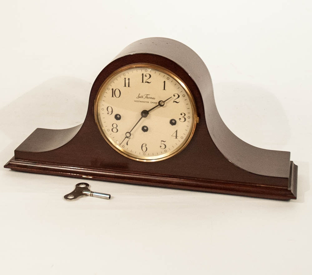 Seth Thomas Westminster Chime Wood Mantle clock