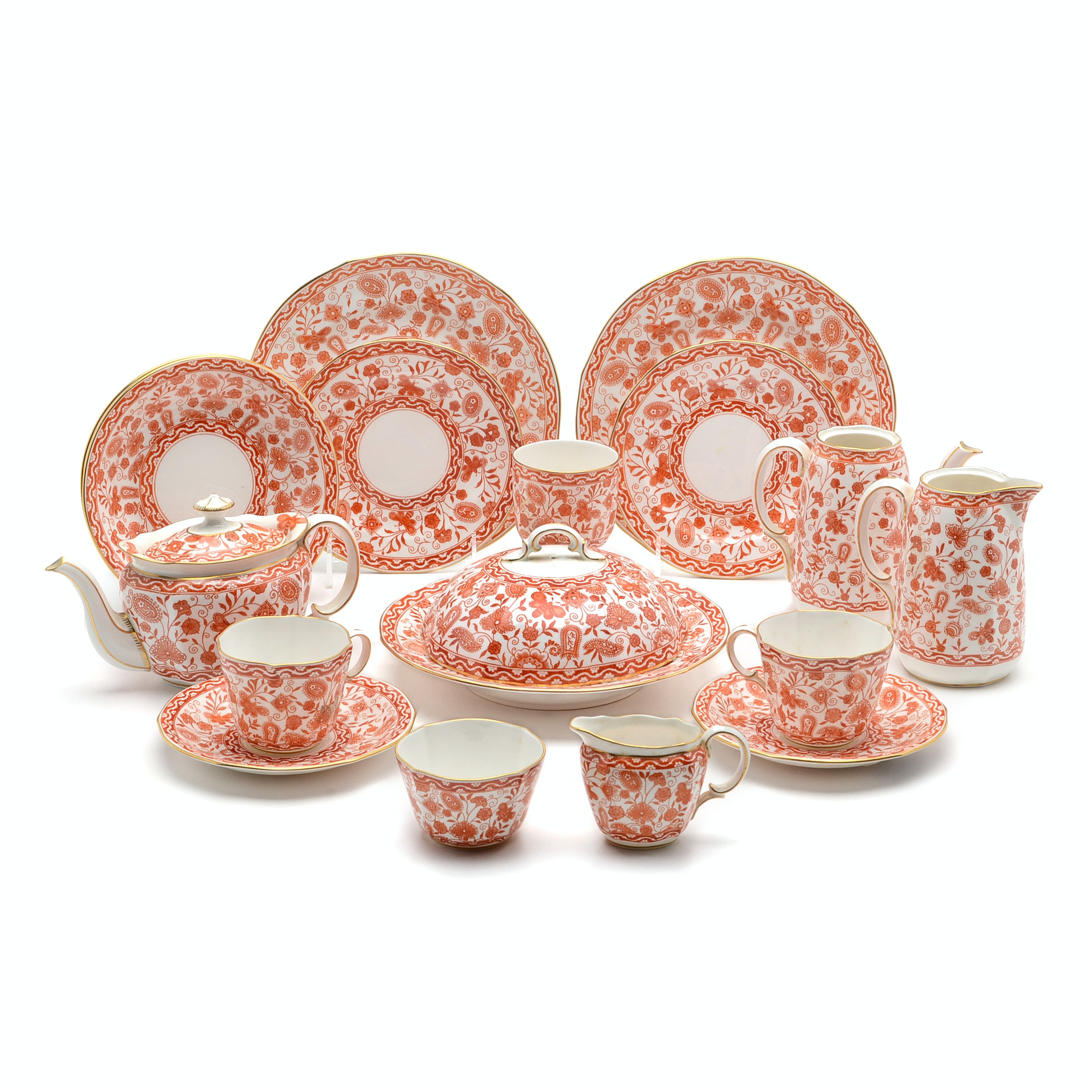 """Royal Crown Derby """"Wilmot"""" Assorted Pieces For Tea Service"""
