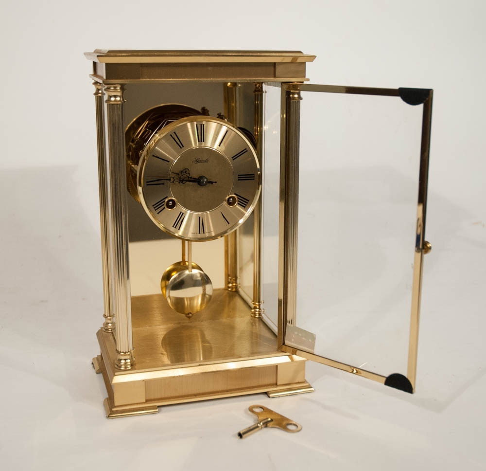 Franz Hermle Solid Brass Mantle Clock